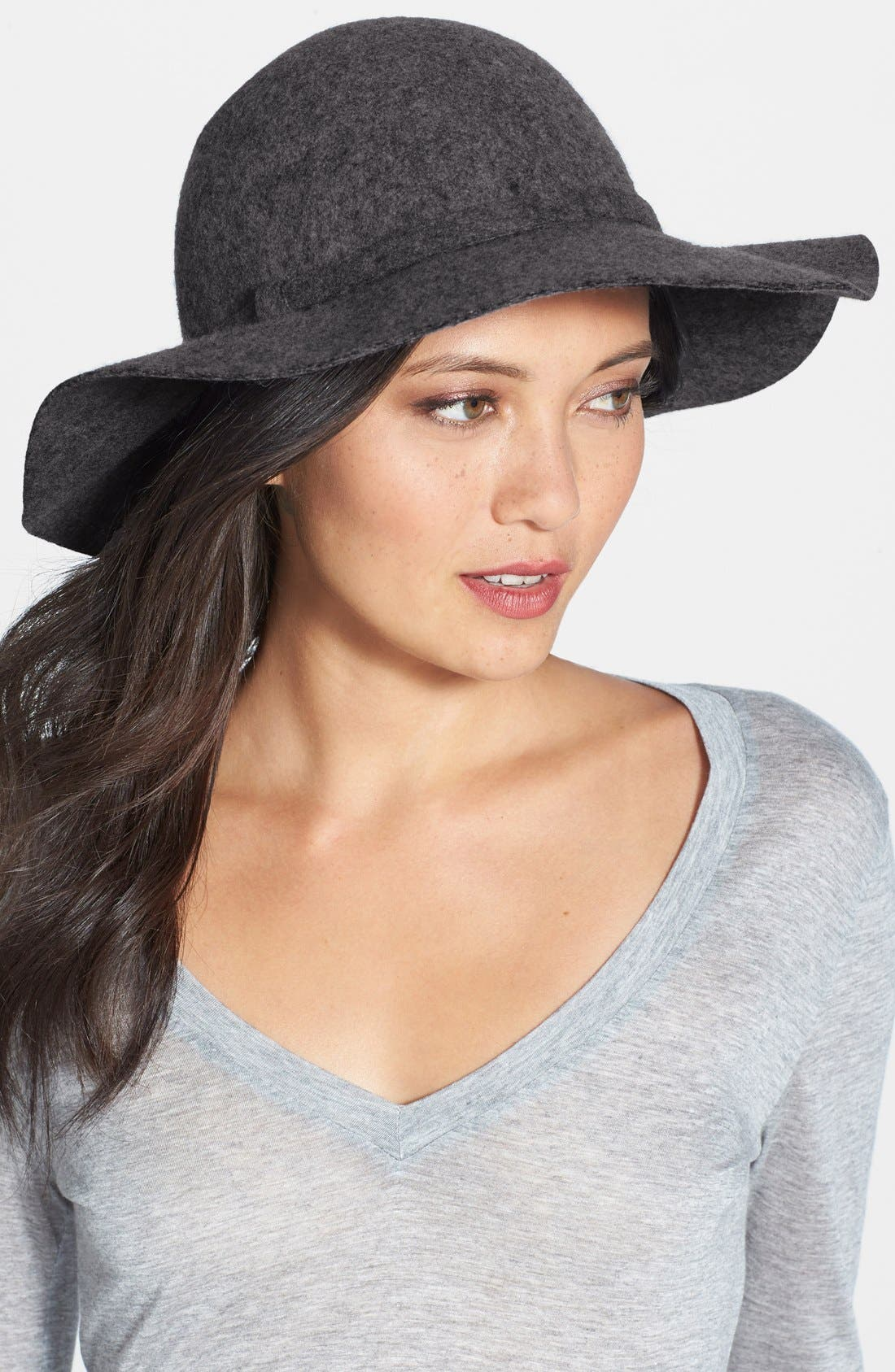 Floppy Wool Hat,                             Main thumbnail 1, color,                             001