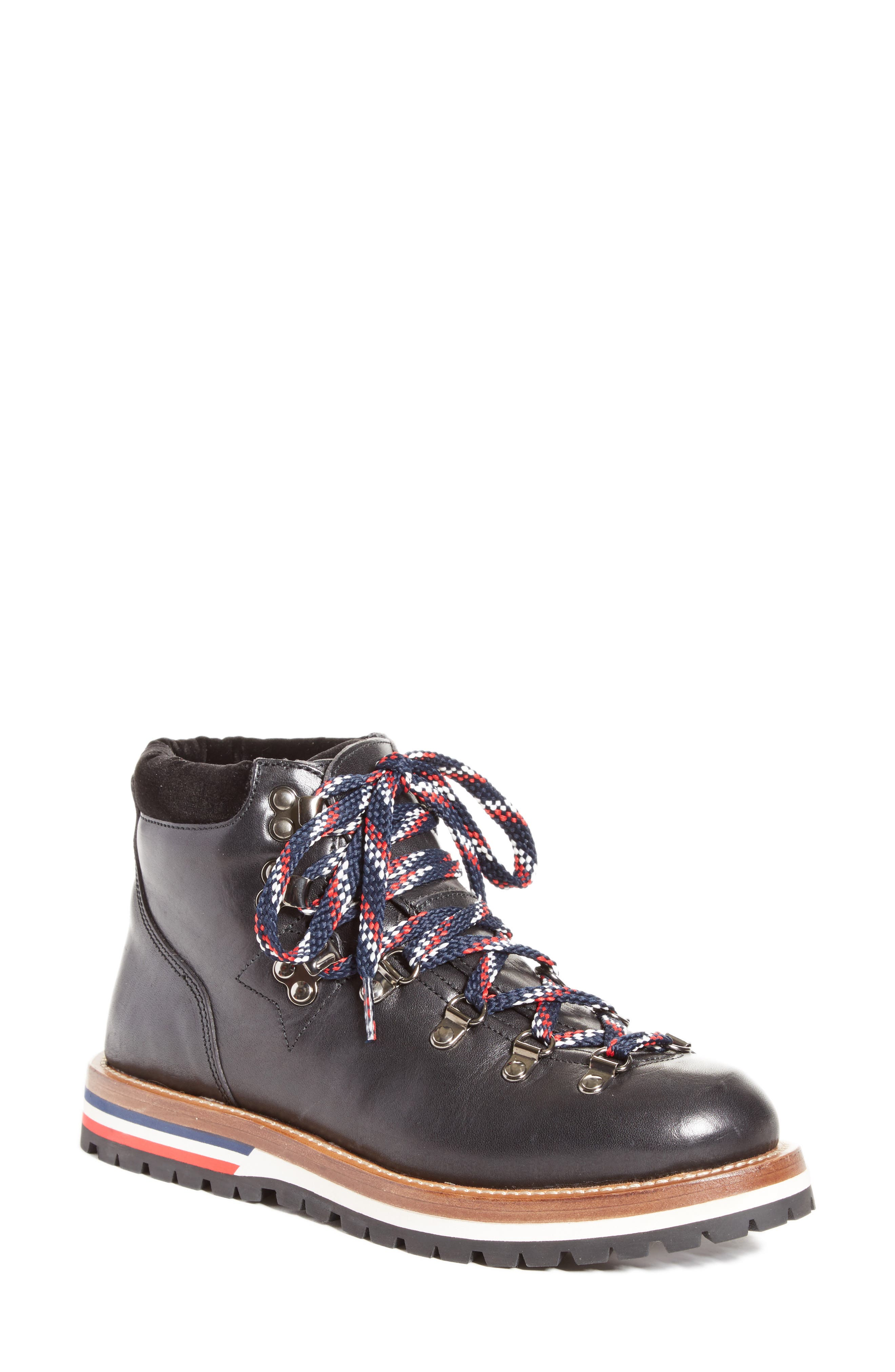 Blanche Lace-up Boot,                             Main thumbnail 1, color,                             BLACK
