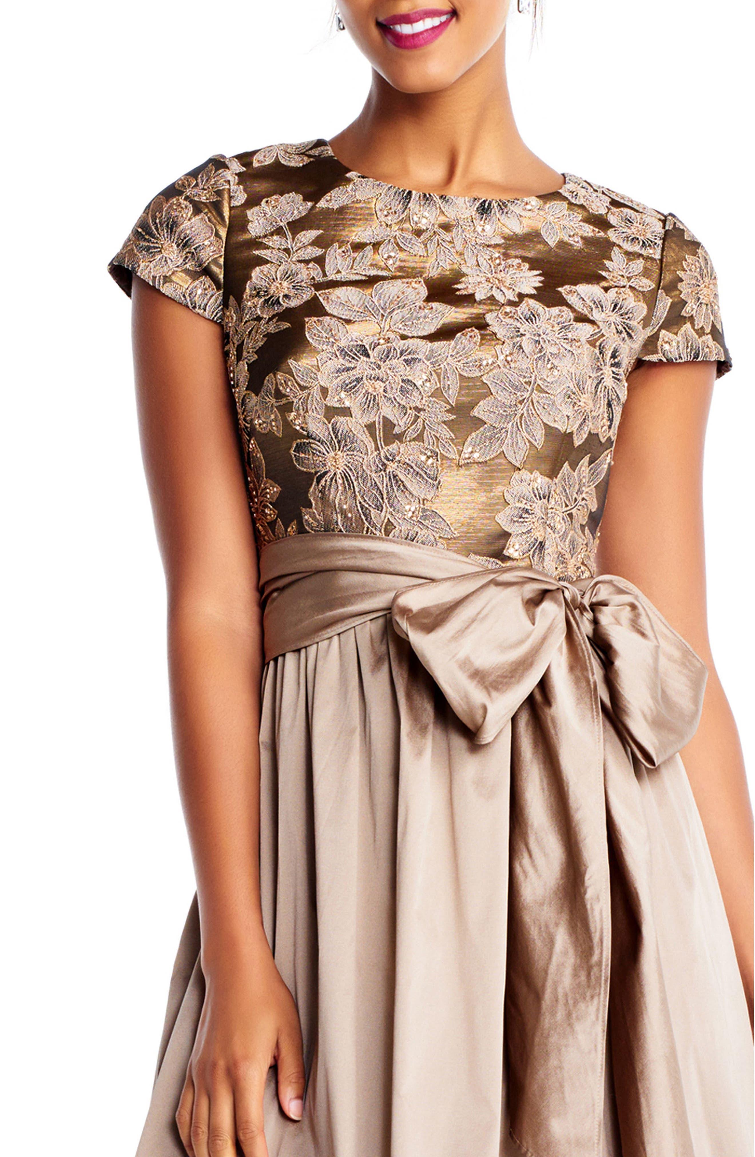 Taffeta High/Low Gown,                             Alternate thumbnail 3, color,                             920