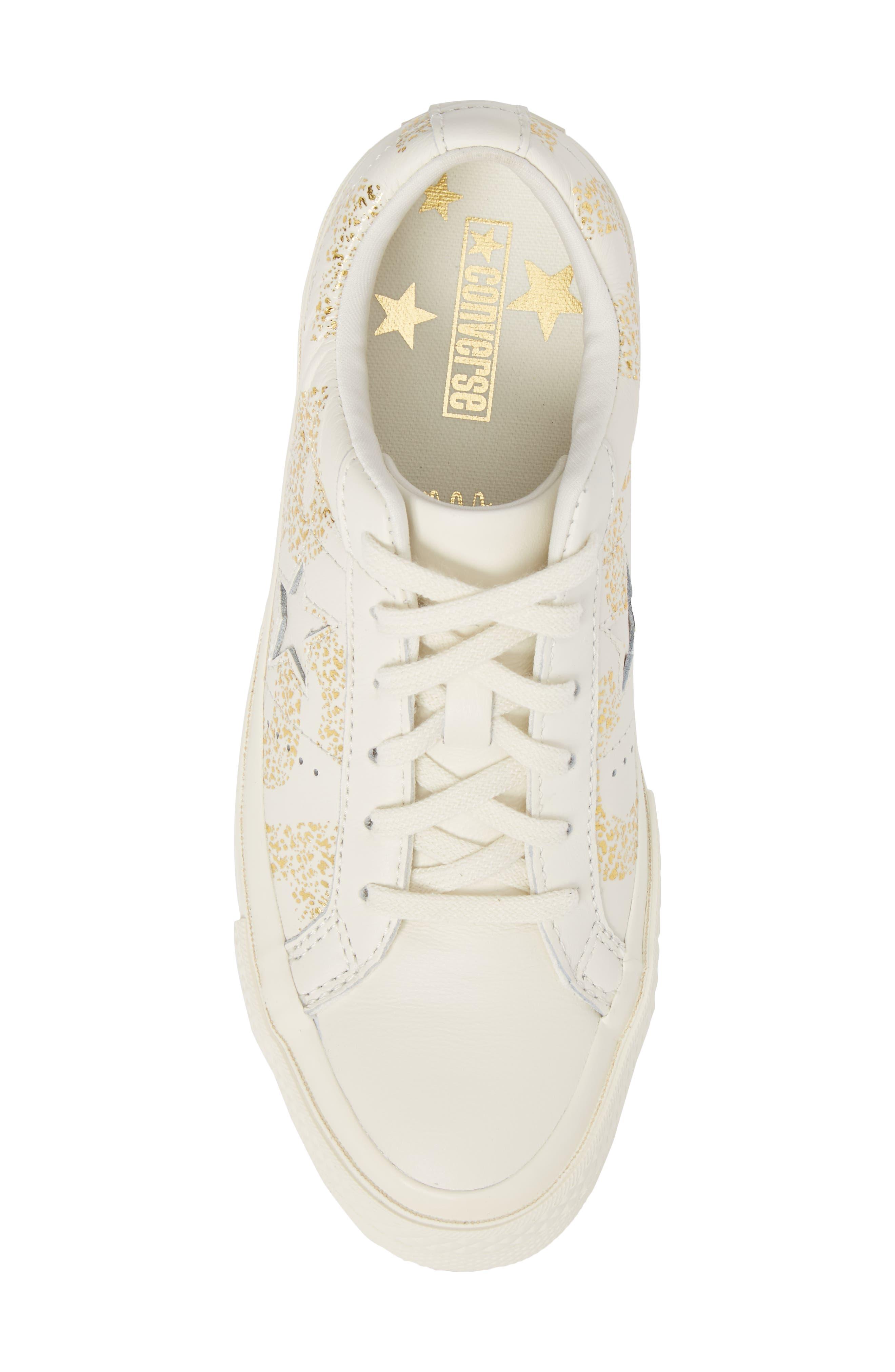 One Star Wordmark Sneaker,                             Alternate thumbnail 5, color,                             100