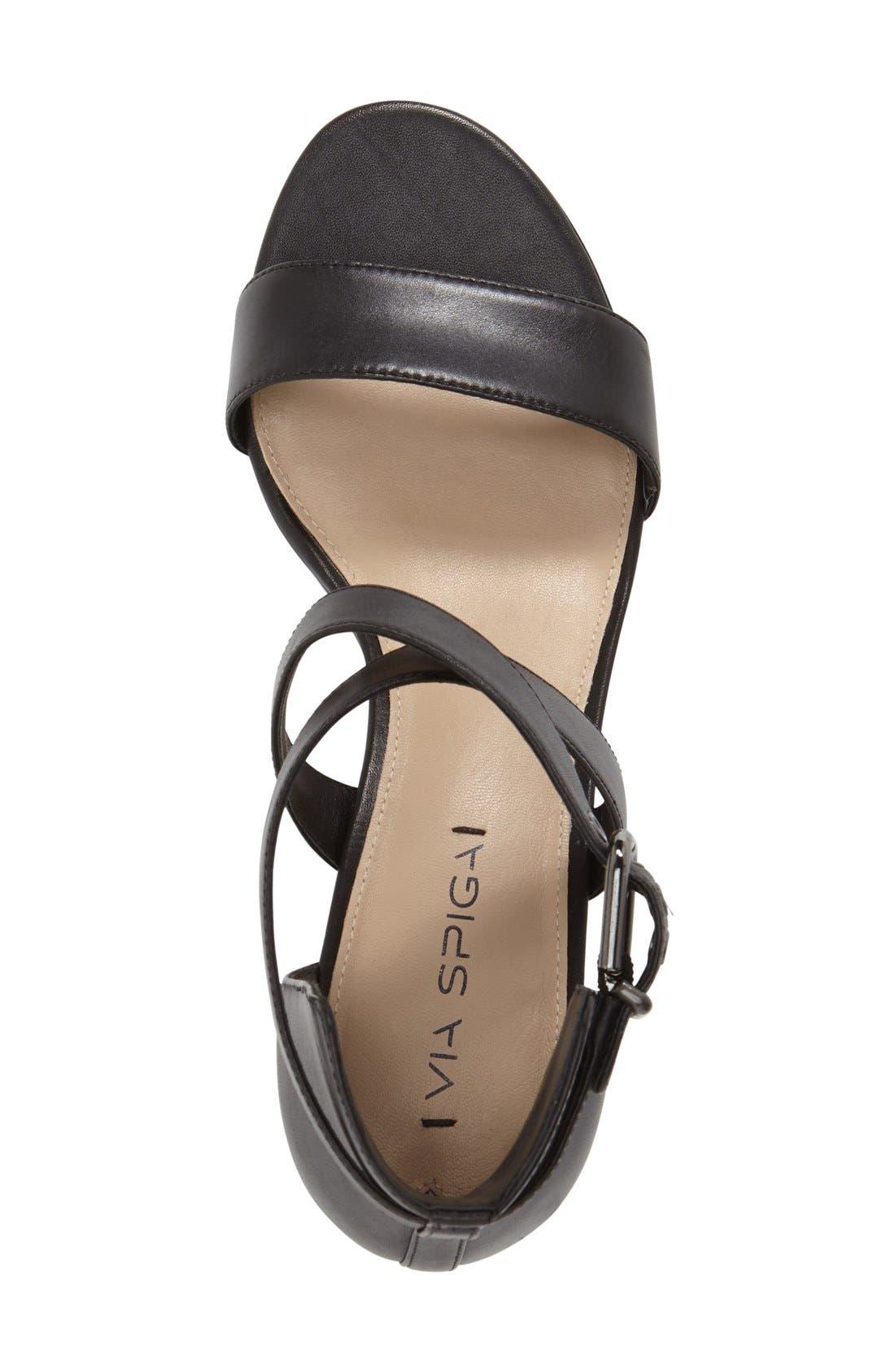 'Jobina' Crisscross Strap Block Heel Sandal,                             Alternate thumbnail 3, color,                             005