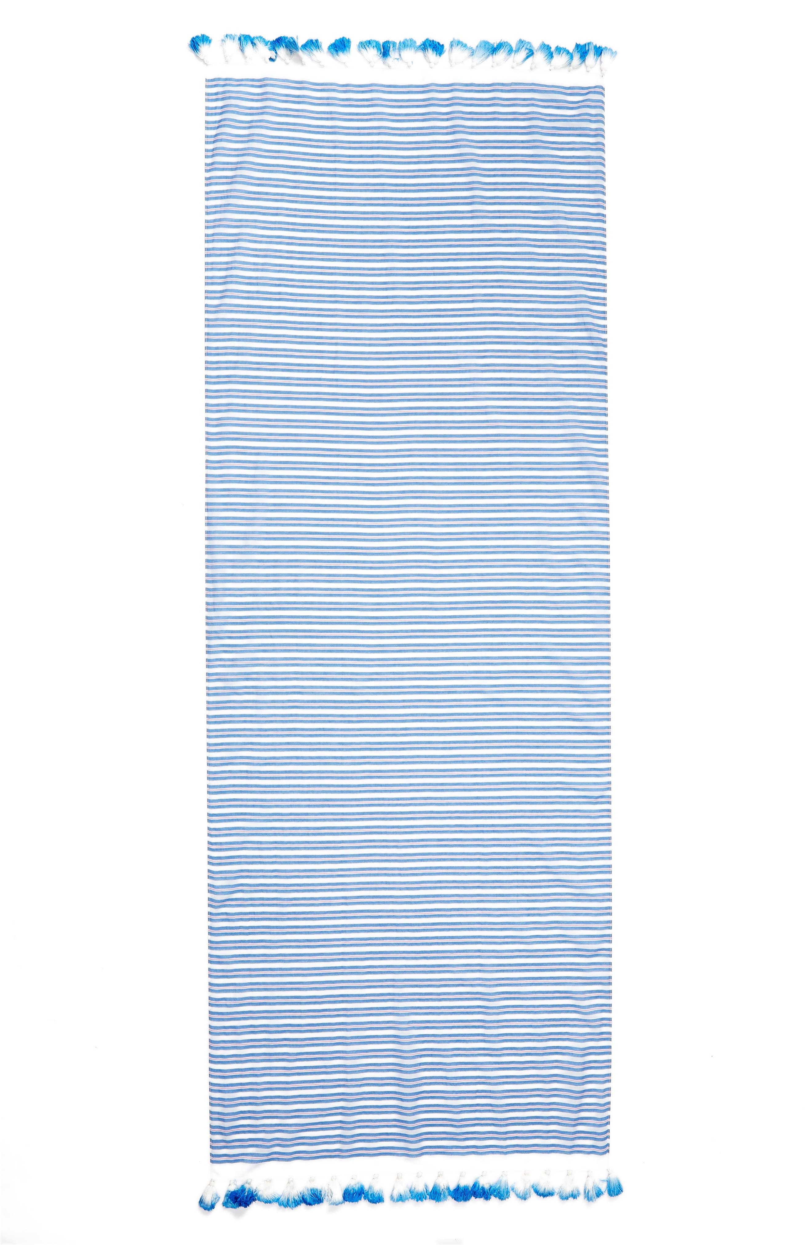 candy stripe cotton & silk scarf,                             Alternate thumbnail 3, color,                             460
