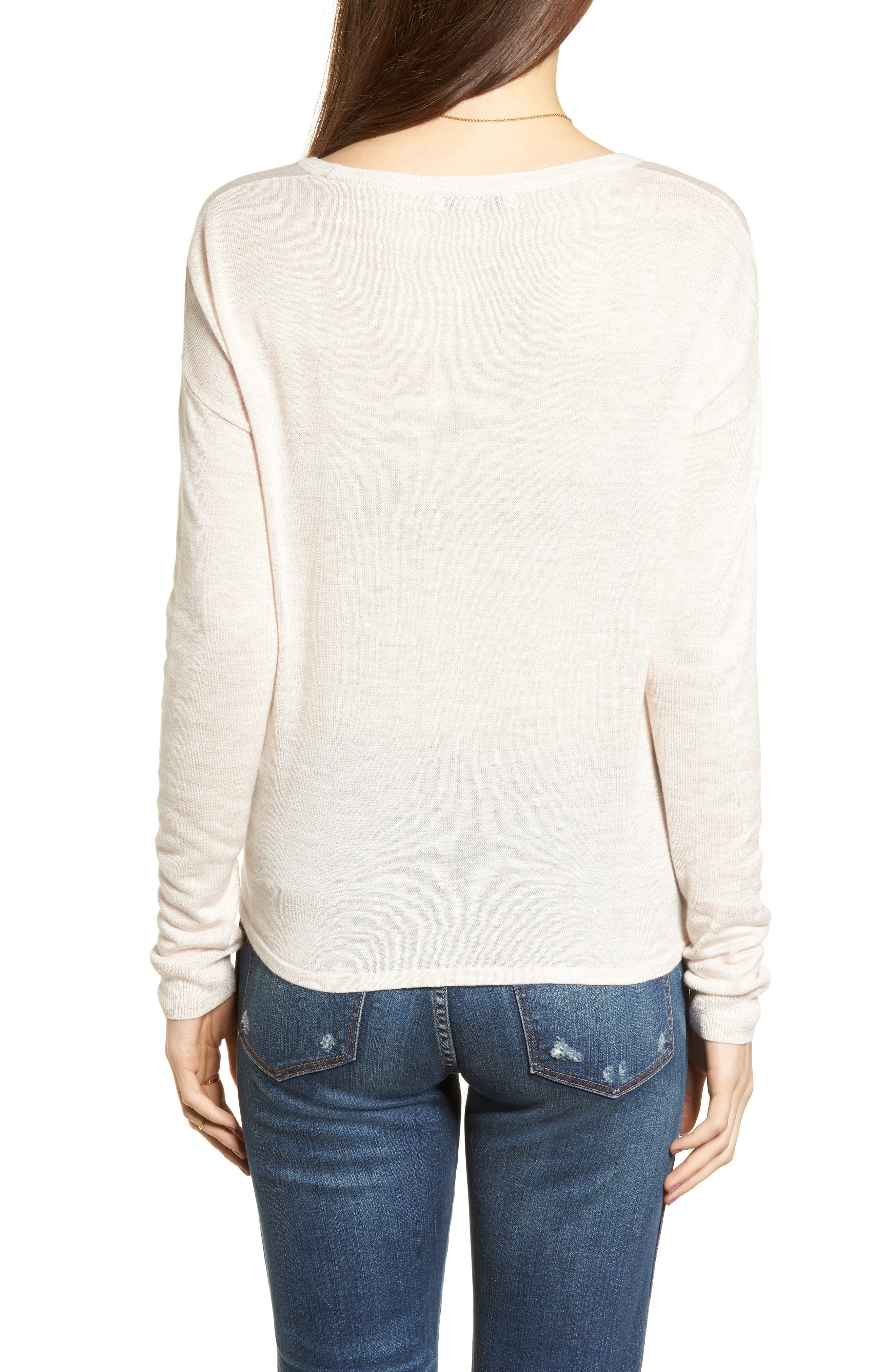 Modern Tie Front Sweater,                             Alternate thumbnail 6, color,