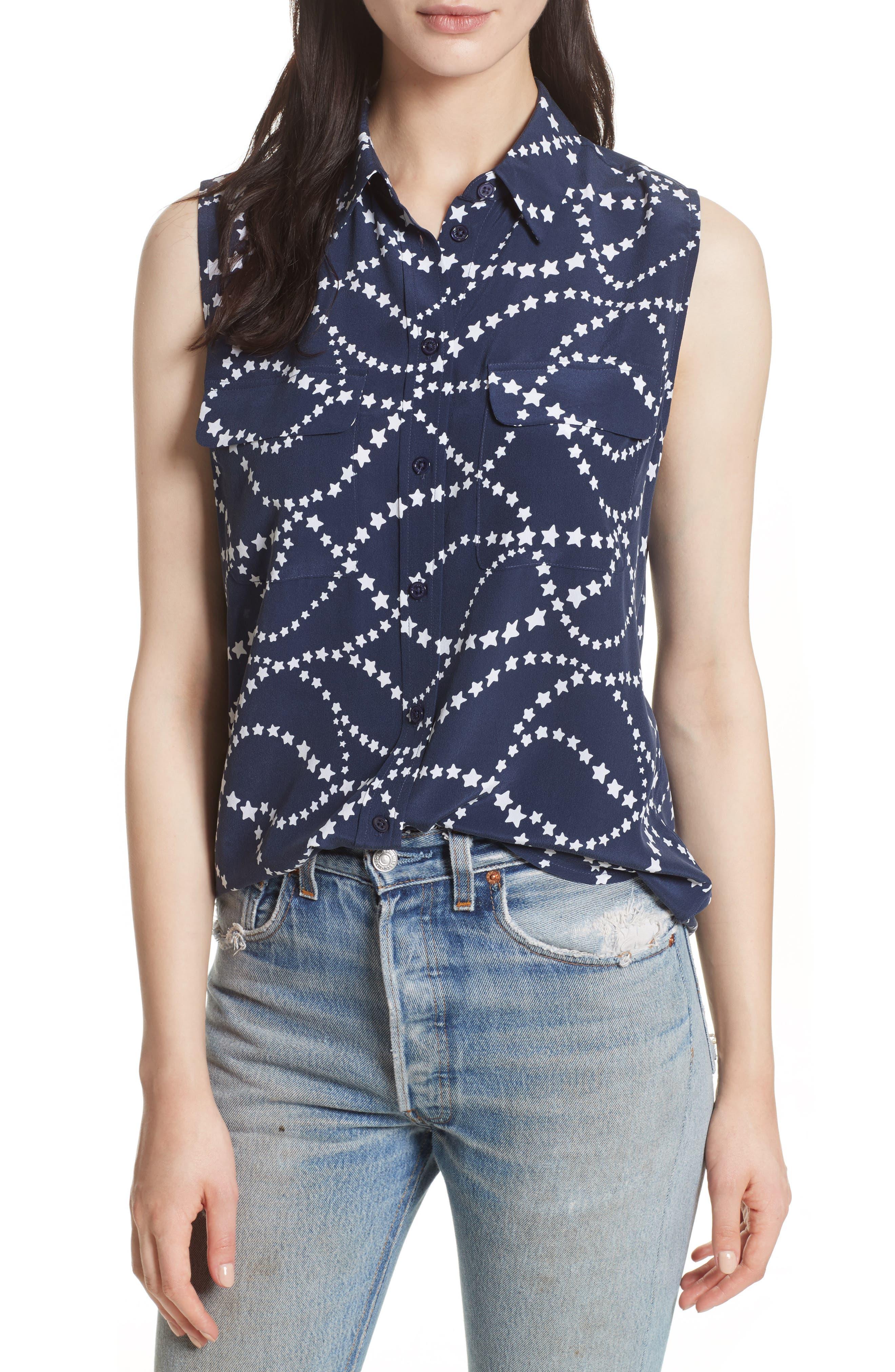 Slim Signature Print Silk Shirt,                         Main,                         color, 452