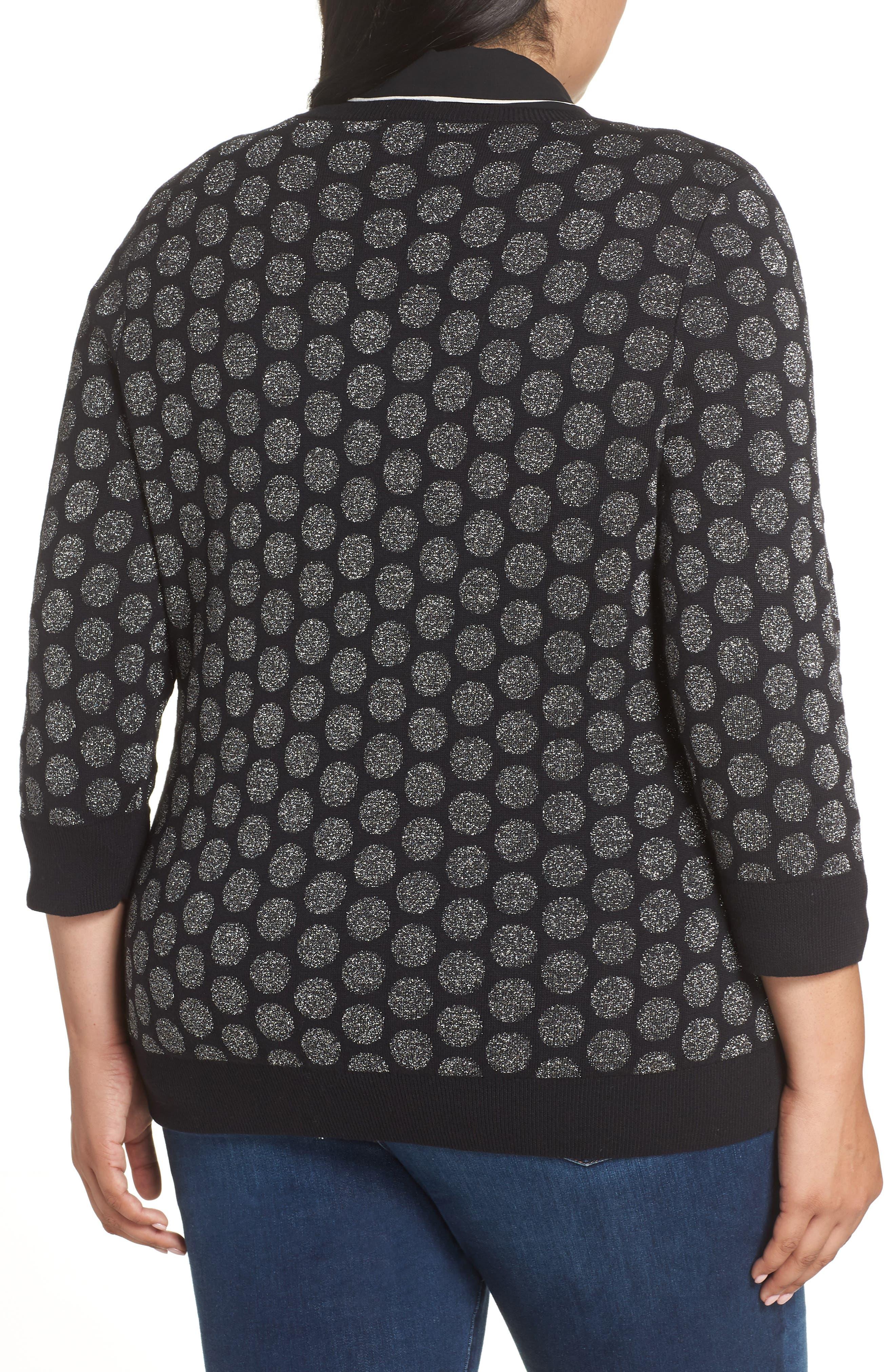 x Atlantic-Pacific Shimmer Dot Sweater,                             Alternate thumbnail 2, color,                             BLACK