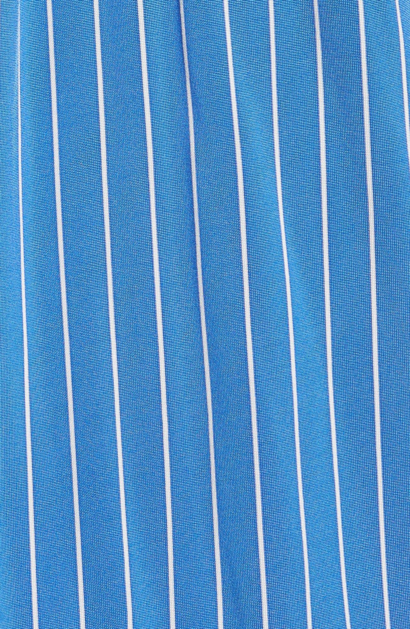 Essential Stripe Jersey Button Down Shirt,                             Alternate thumbnail 5, color,                             450