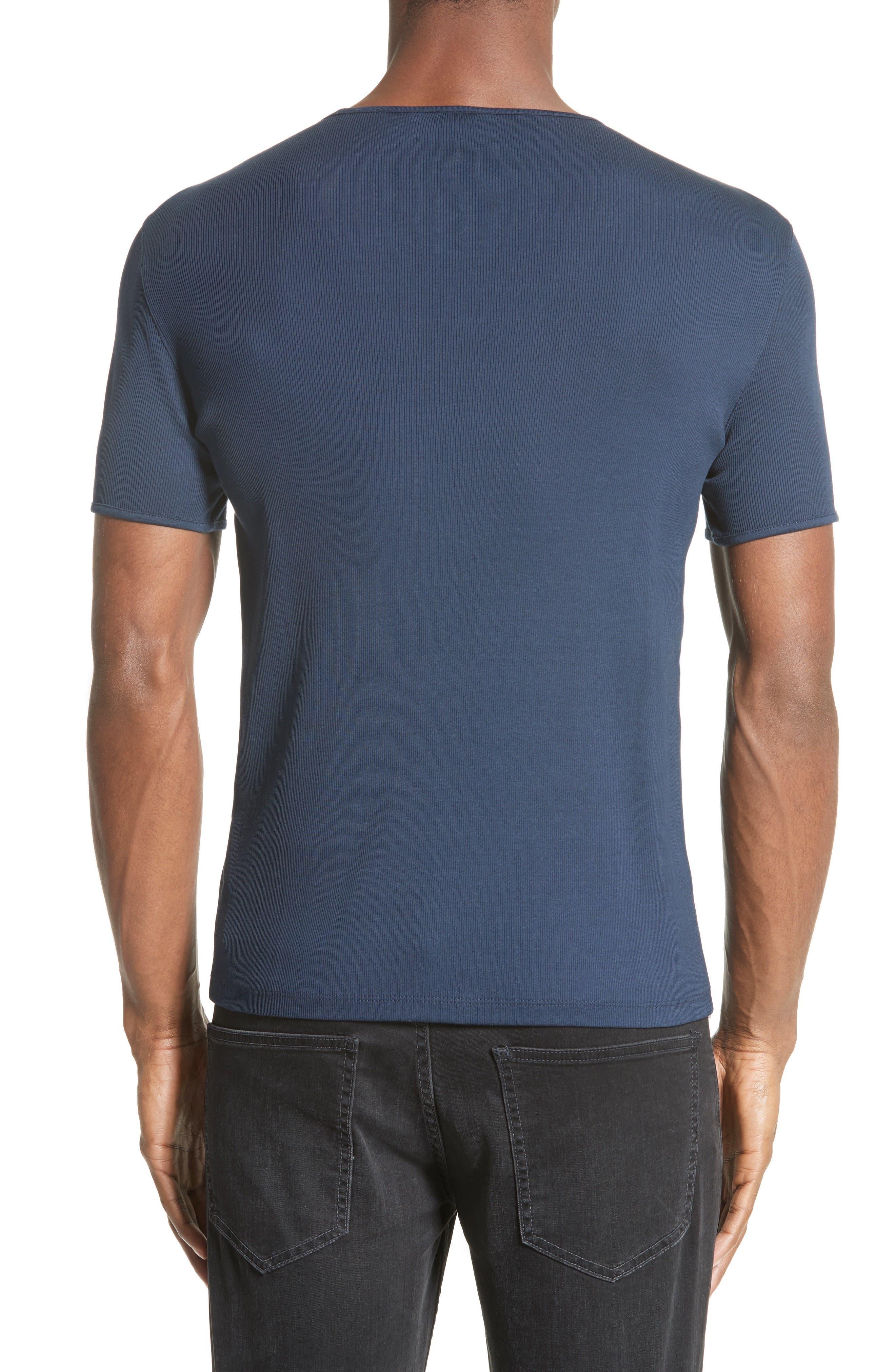 Ribbed Crewneck T-Shirt,                             Alternate thumbnail 3, color,                             405