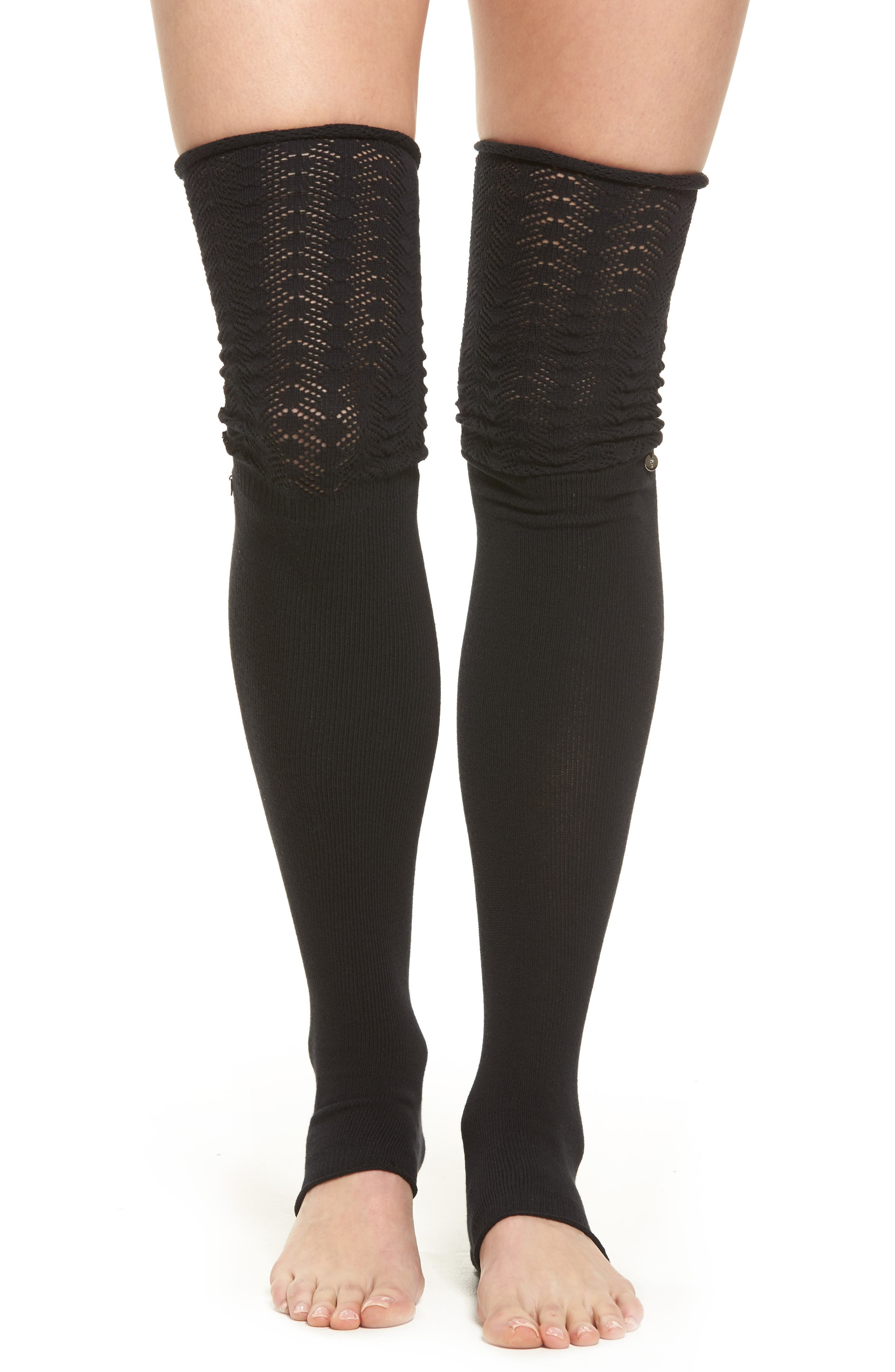 Sasha Leg Warmers,                         Main,                         color, BLACK