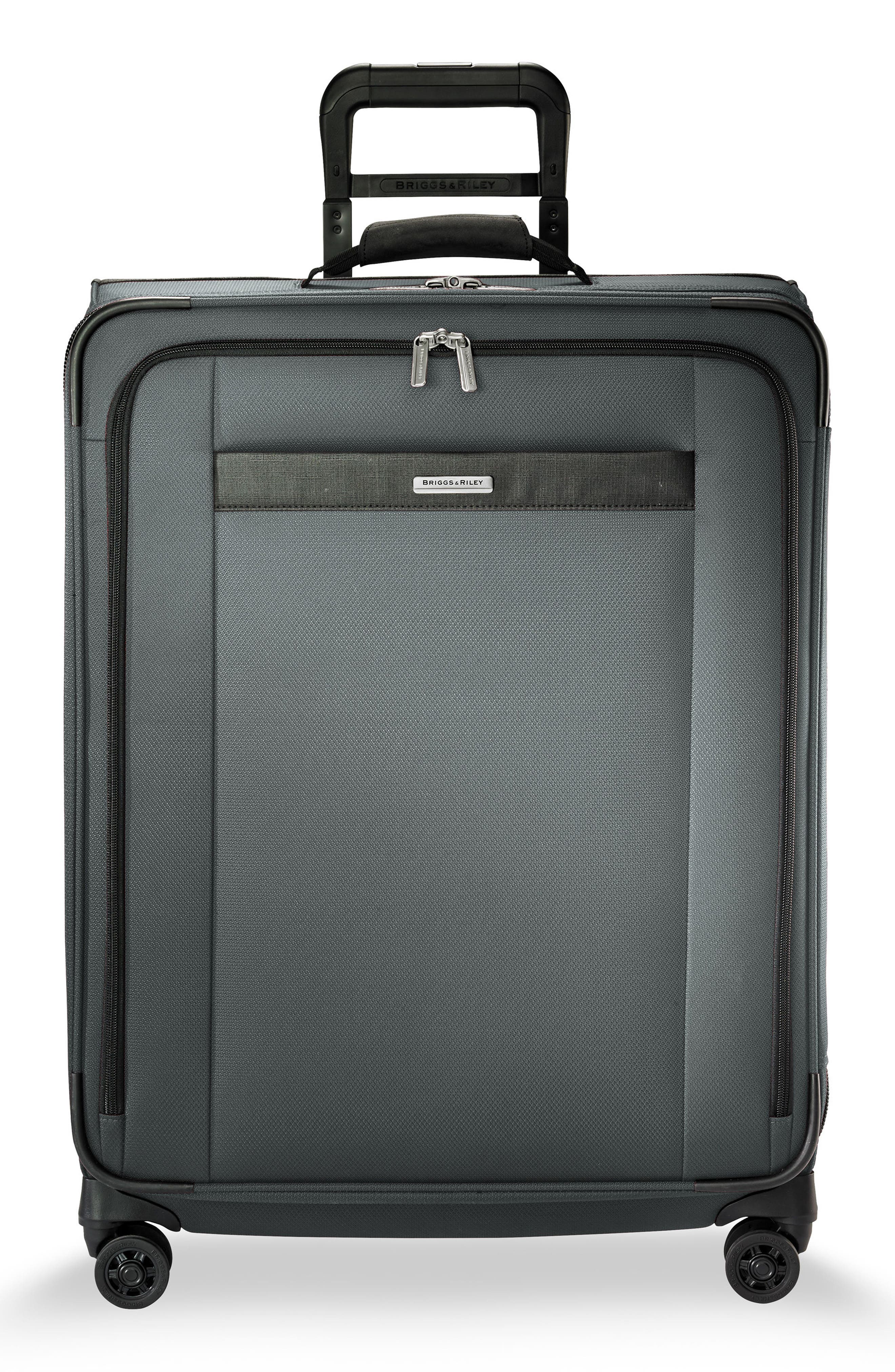 Transcend VX Medium Expandable 26-Inch Spinner Suitcase,                         Main,                         color, SLATE GREY