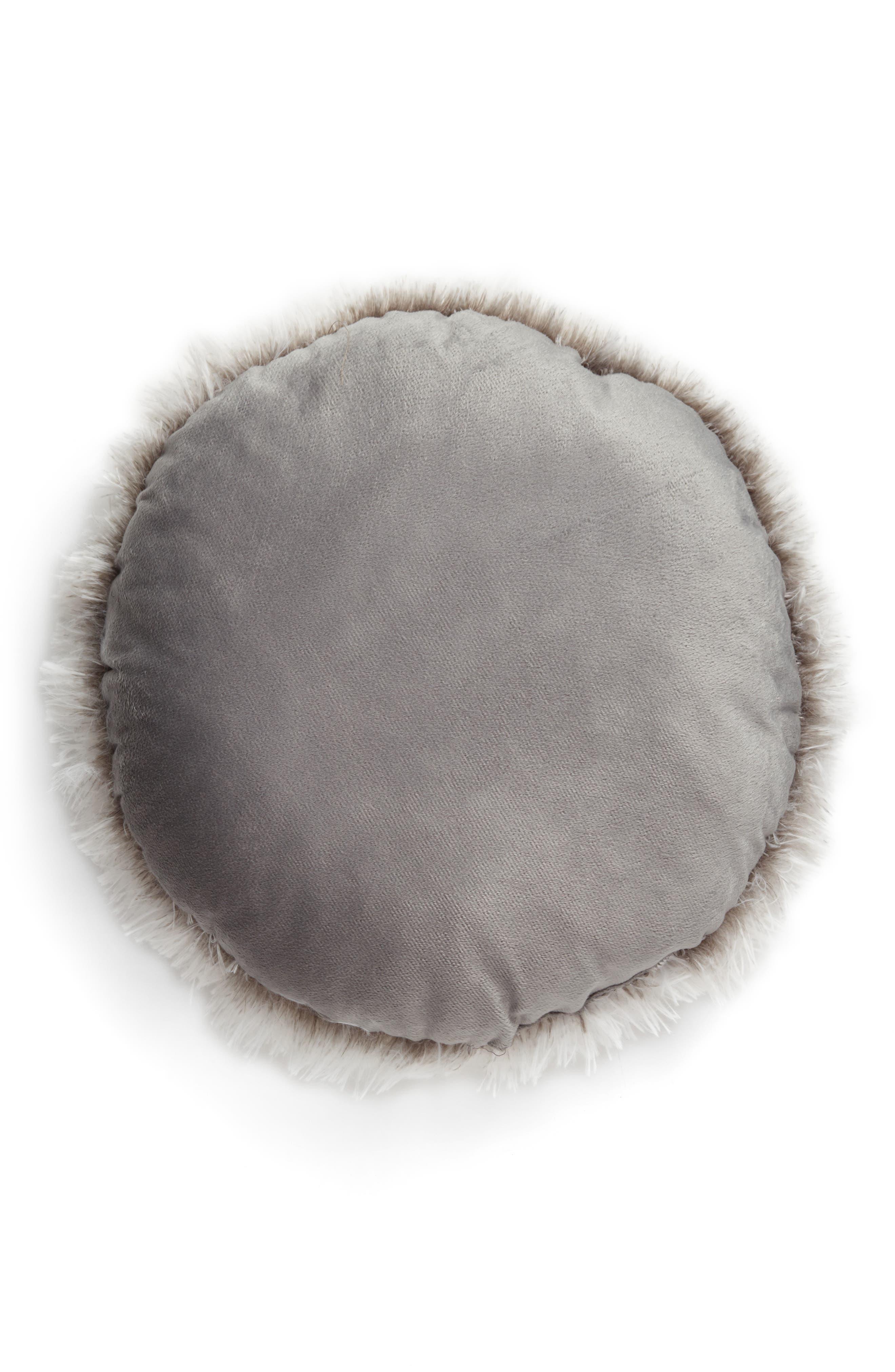 Feather Faux Fur Pillow,                             Alternate thumbnail 14, color,
