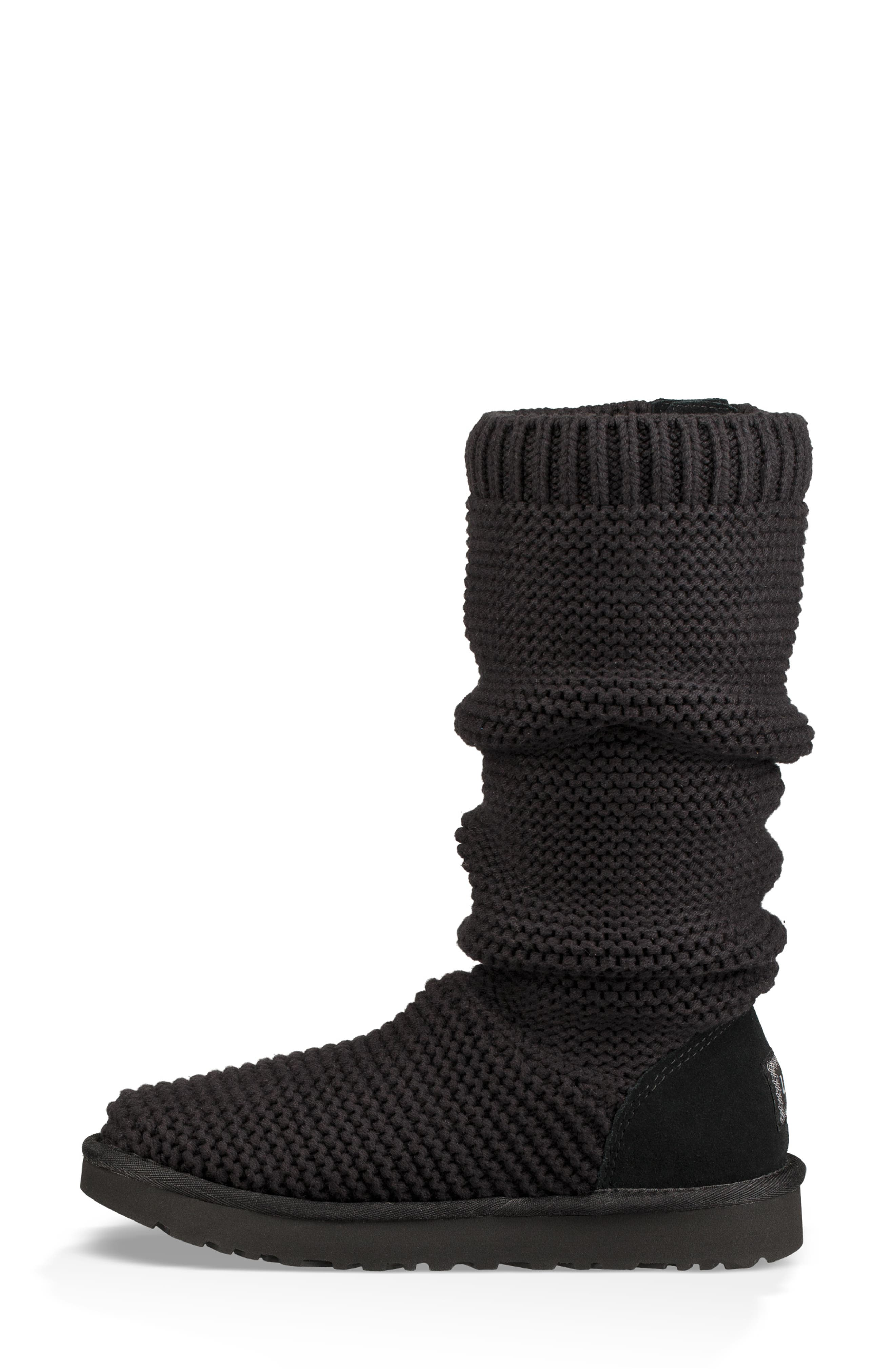 UGG<SUP>®</SUP>,                             Purl Cardy Knit Boot,                             Alternate thumbnail 9, color,                             001