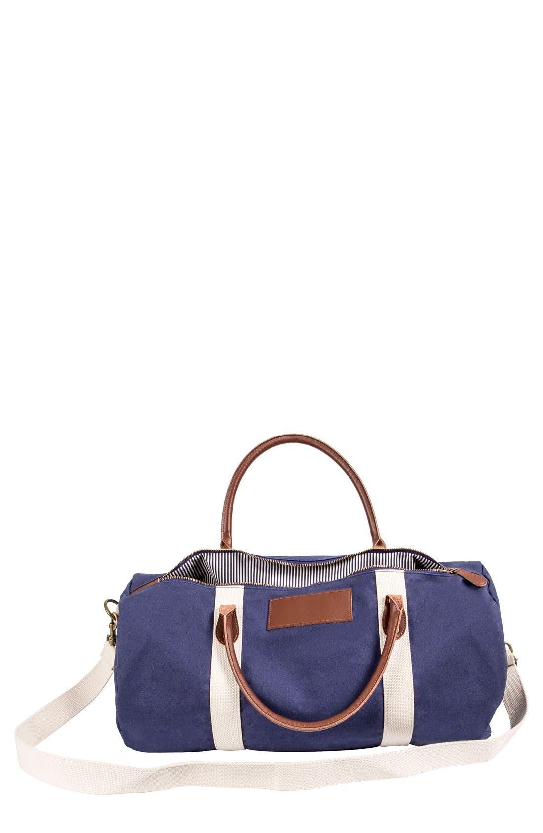 Monogram Duffel Bag,                         Main,                         color, NAVY