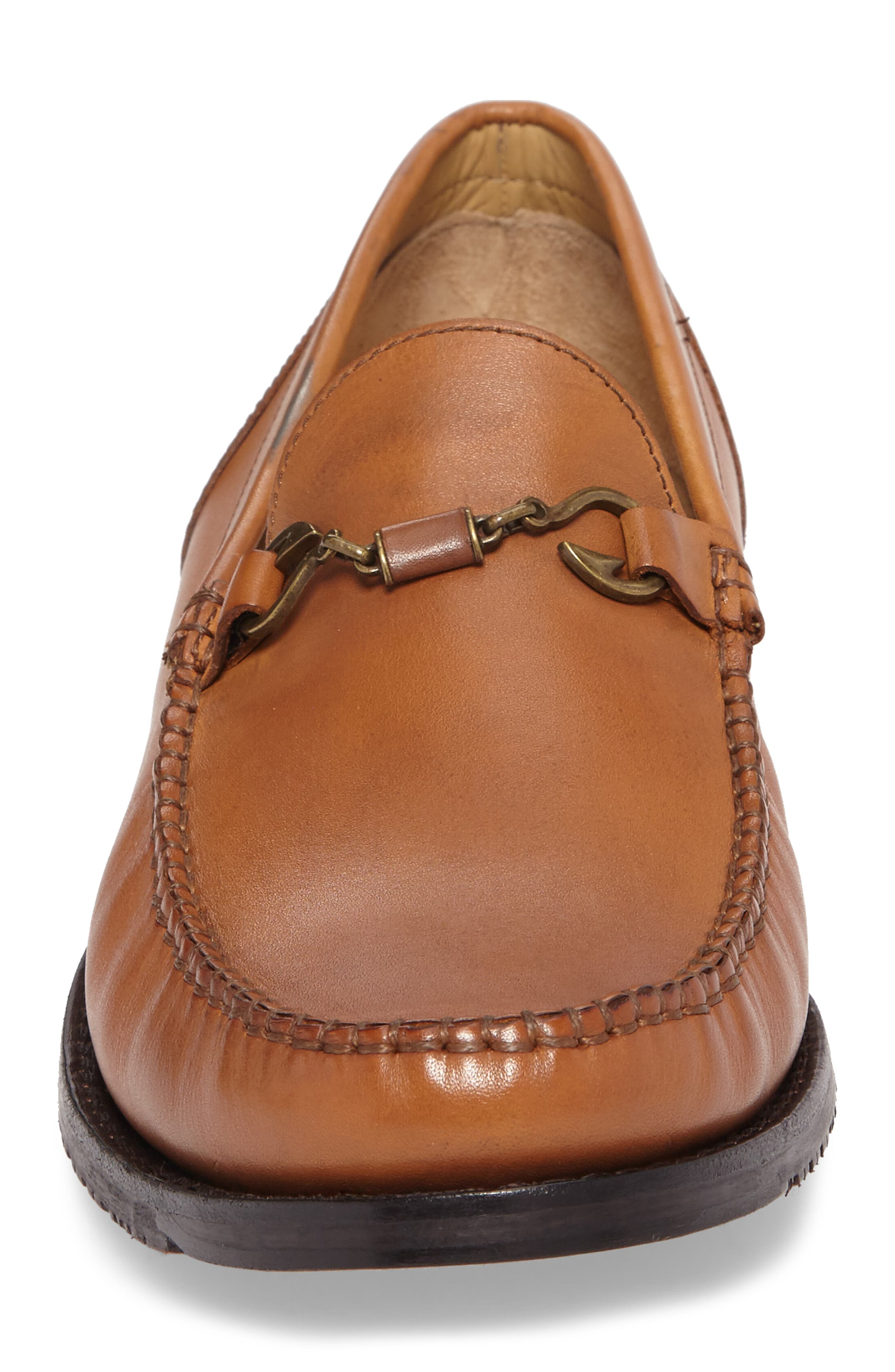 Maya Bay Bit Loafer,                             Alternate thumbnail 4, color,                             TAN LEATHER