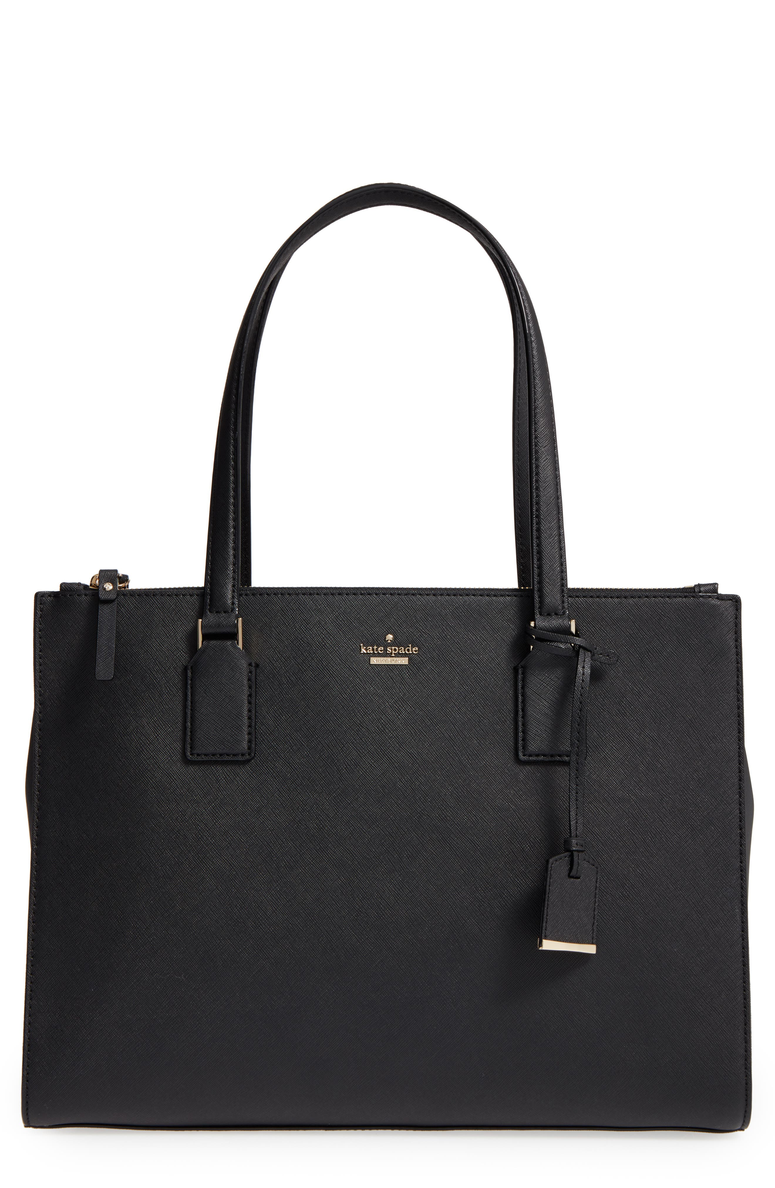 cameron street - jensen leather tote,                             Main thumbnail 1, color,                             001