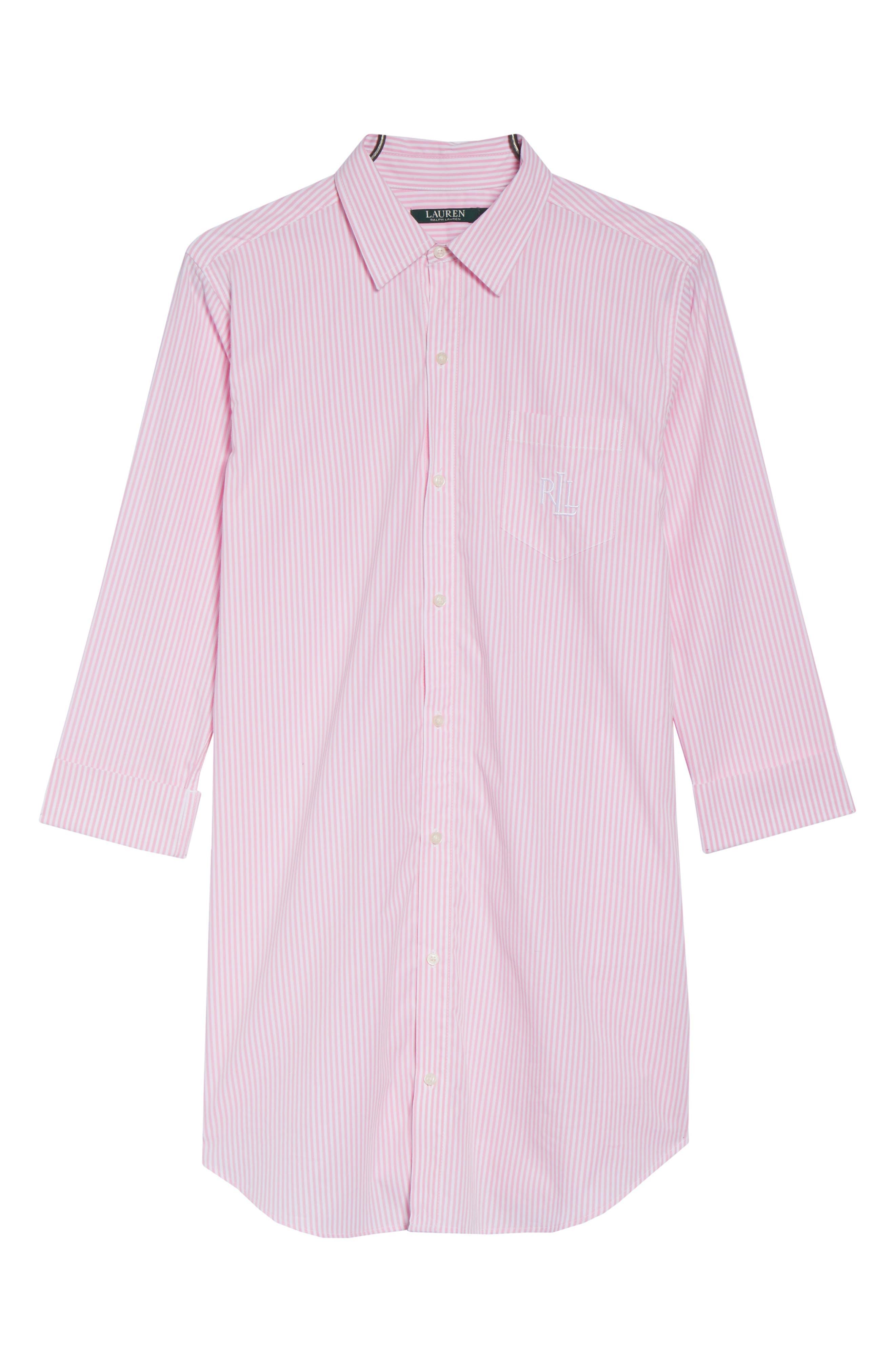 Cotton Poplin Sleep Shirt,                             Alternate thumbnail 14, color,