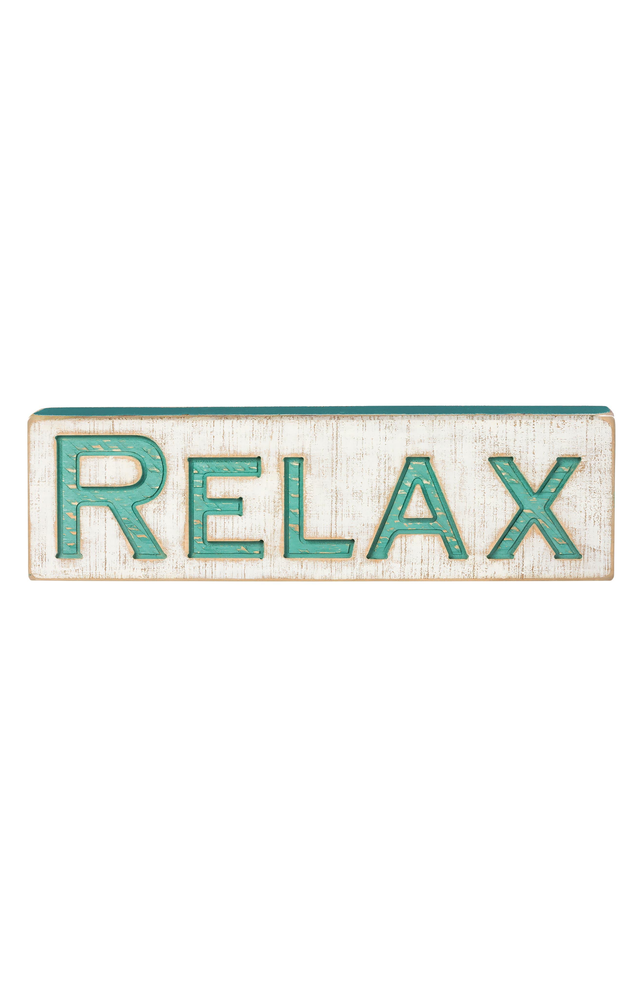 Relax Farmhouse Wall Art,                         Main,                         color,