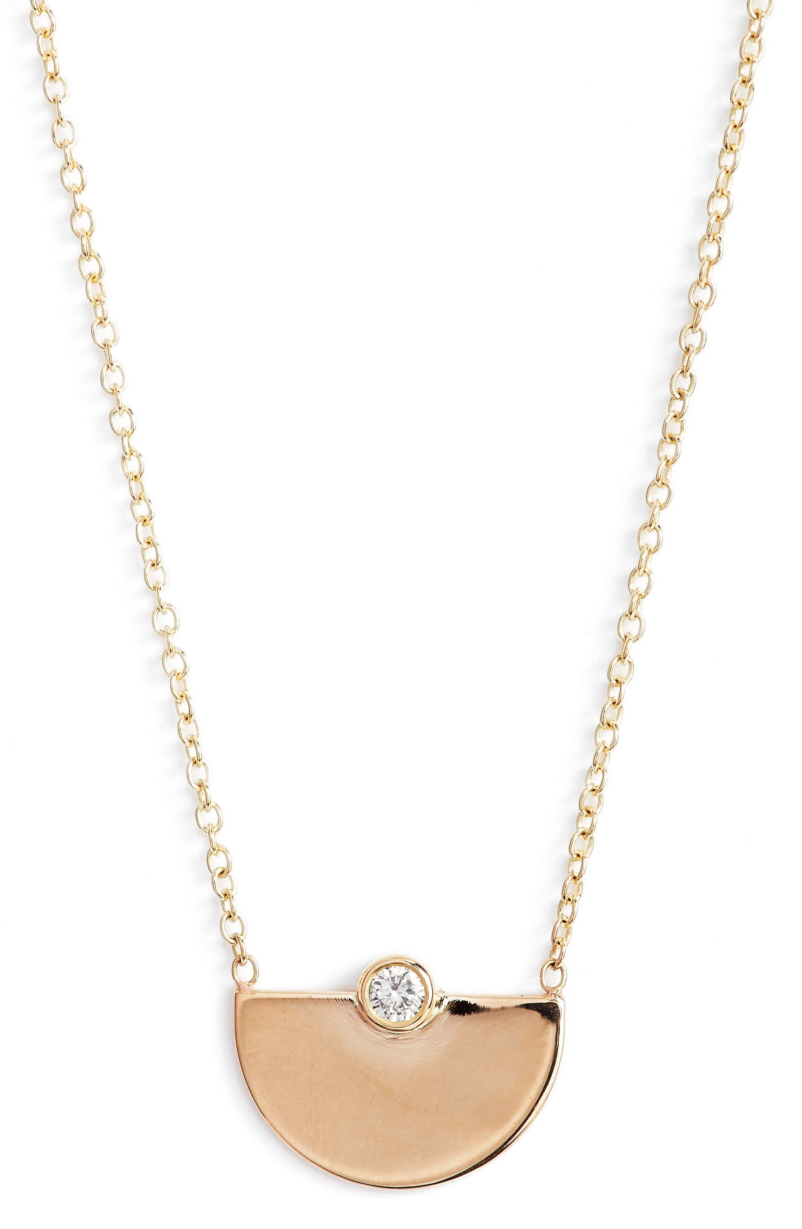 Horizon Diamond Pendant Necklace,                             Main thumbnail 1, color,                             YELLOW GOLD