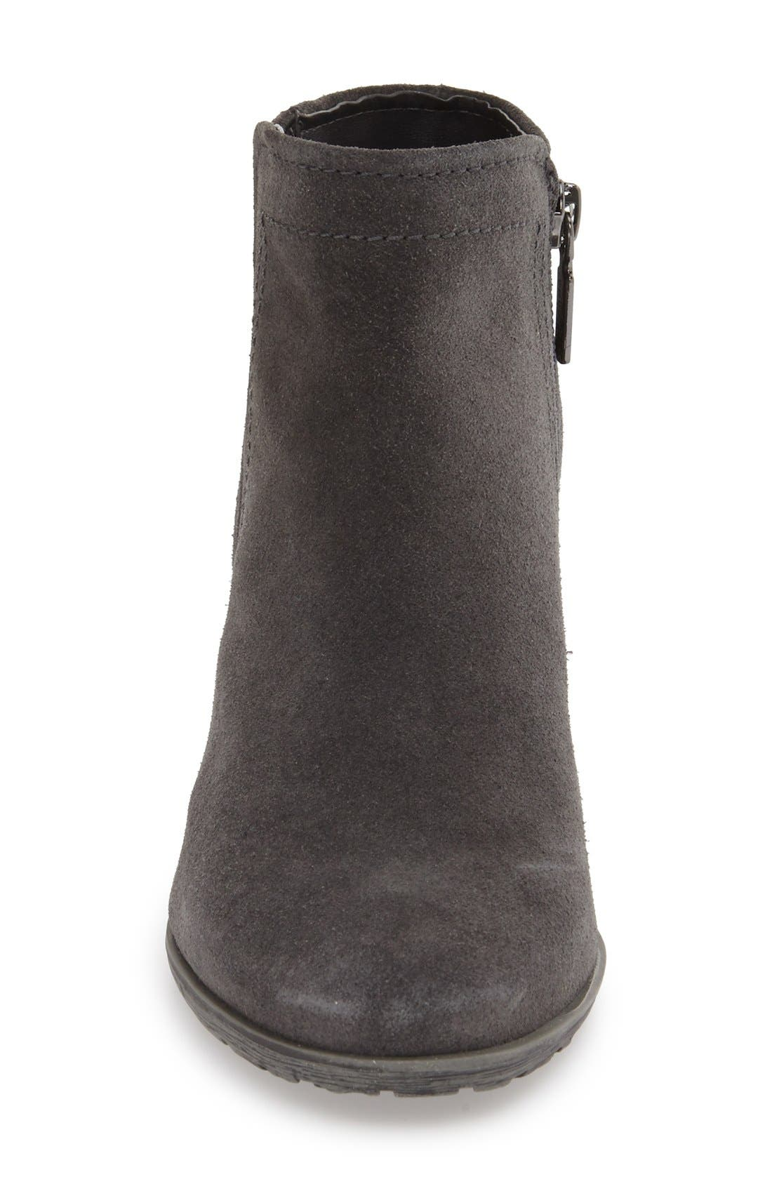 'Valli' Waterproof  Bootie,                             Alternate thumbnail 3, color,                             GREY SUEDE