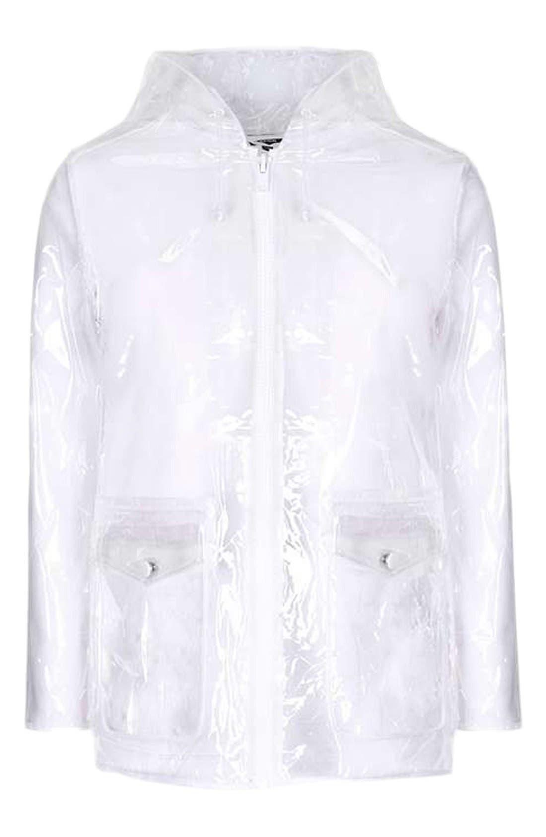 Clear Plastic Rain Jacket,                             Alternate thumbnail 5, color,                             000