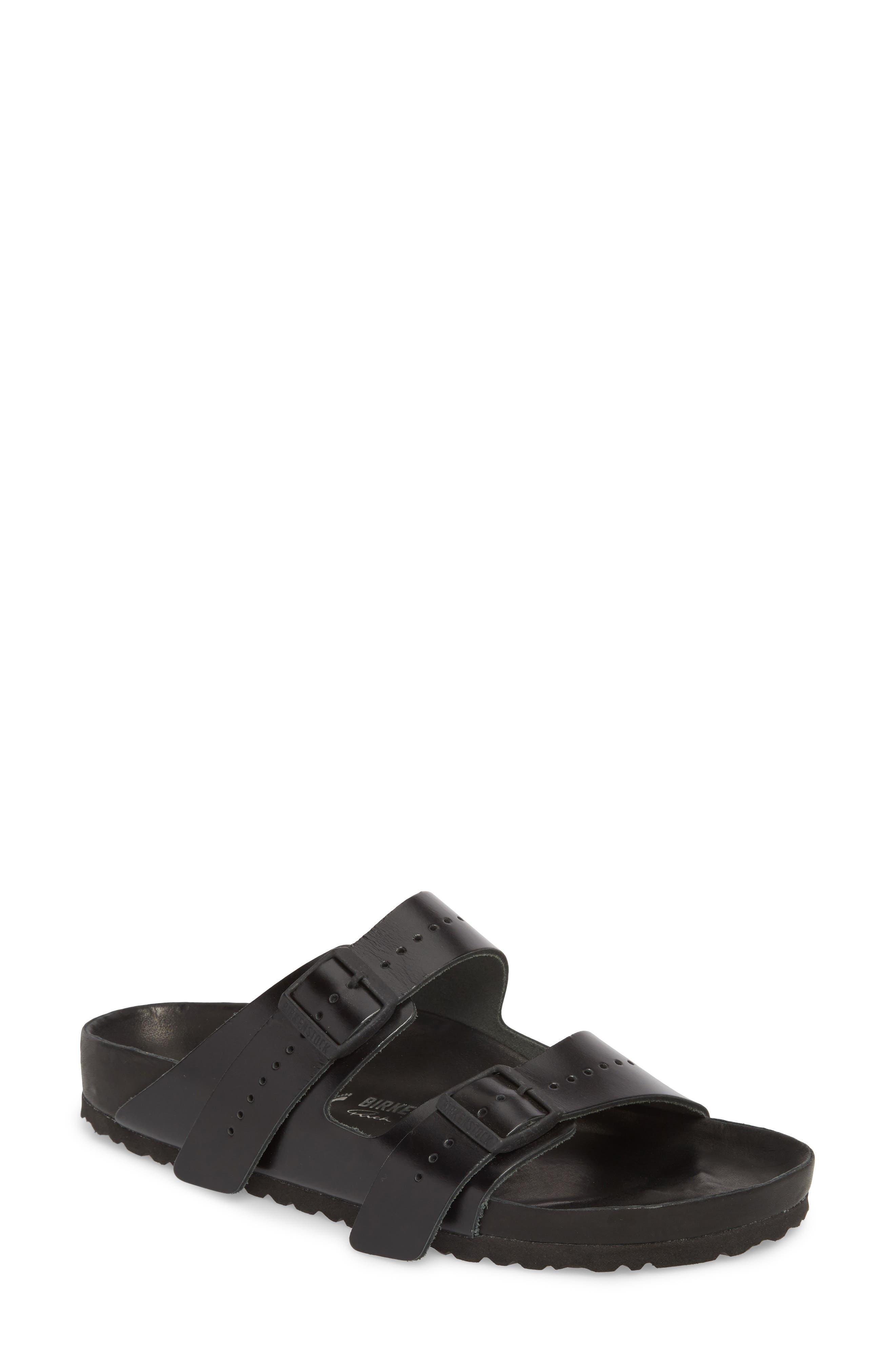 Rick Owens x Birkenstock Arizona Sandal,                         Main,                         color, BLACK/ BLACK
