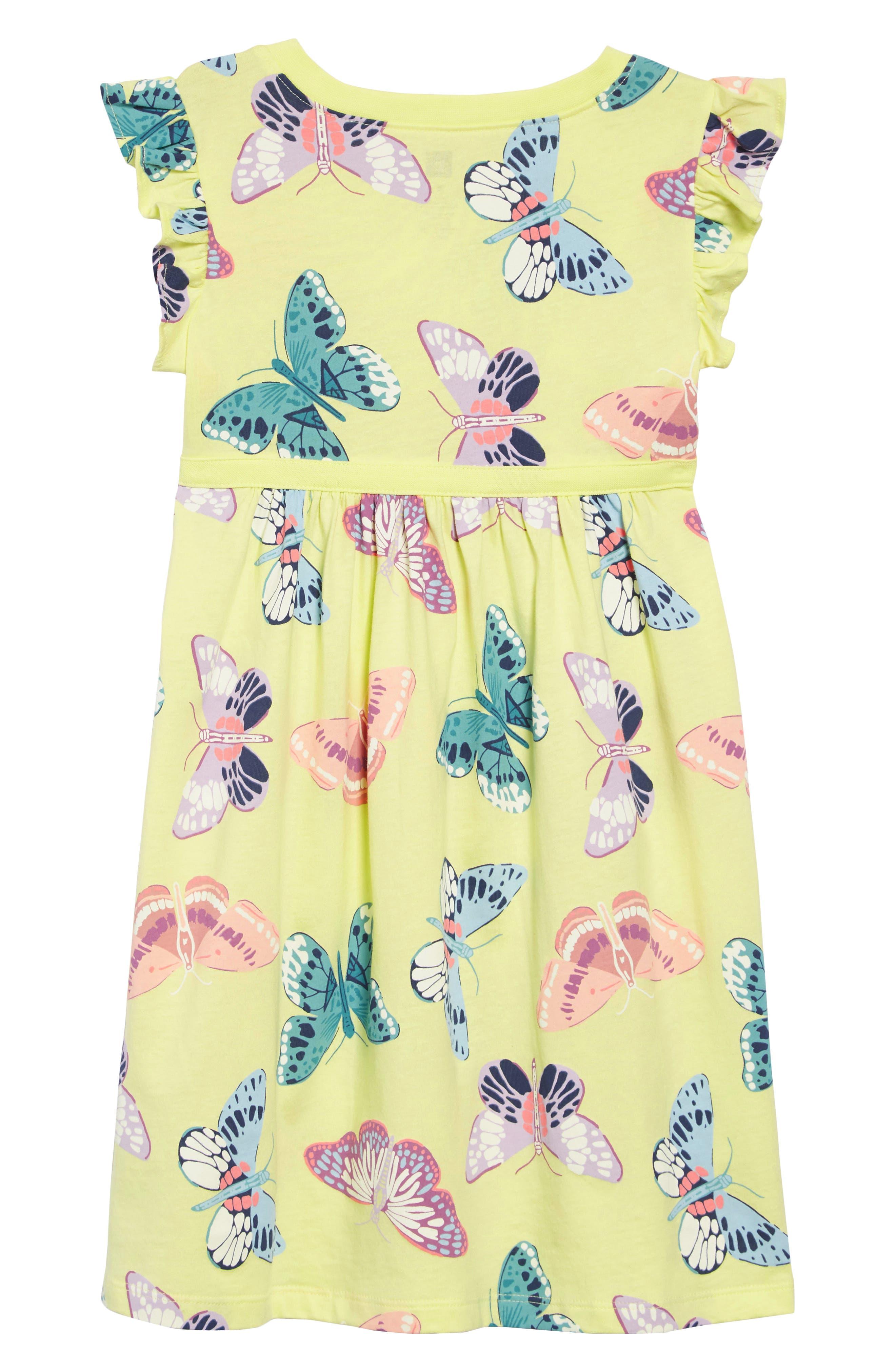 TEA COLLECTION,                             Butterfly Dress,                             Alternate thumbnail 2, color,                             GOSSAMER GLOW - KIWI