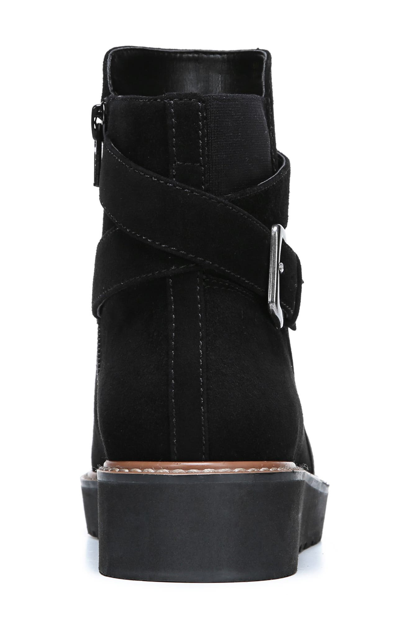 Aster Bootie,                             Alternate thumbnail 9, color,                             BLACK SUEDE
