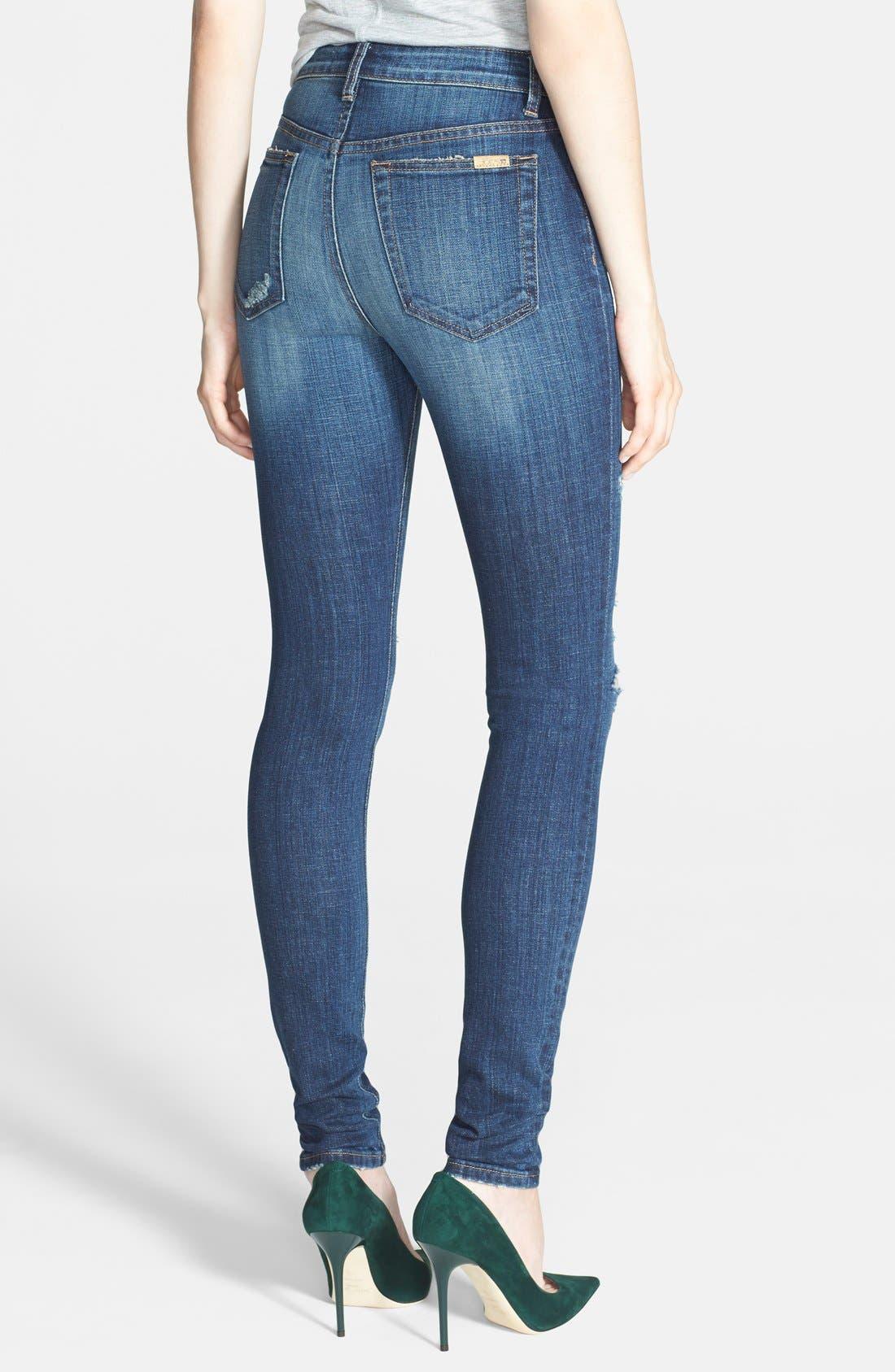 High Rise Skinny Jeans,                             Alternate thumbnail 2, color,                             400