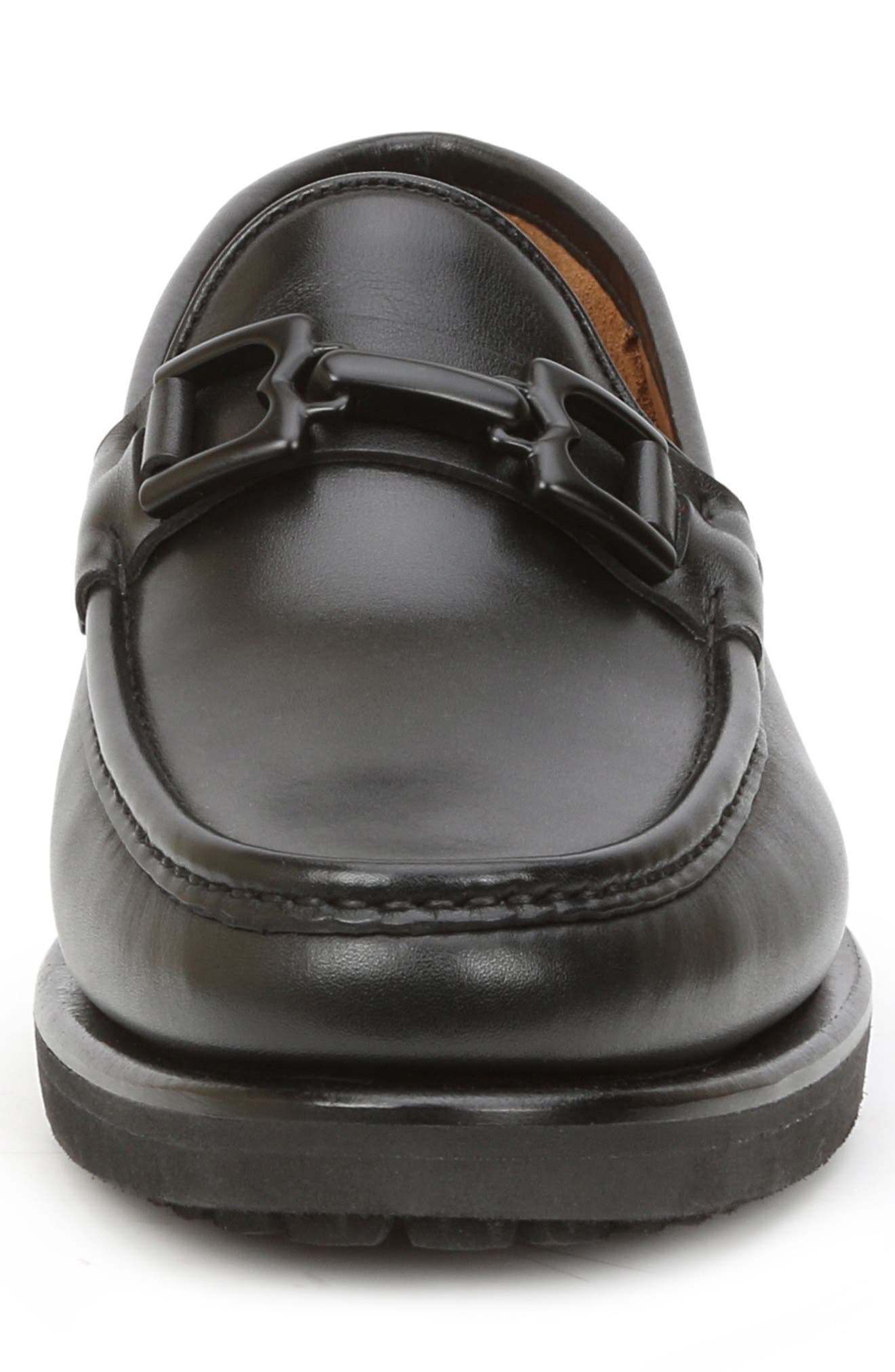 Falcone Lugged Bit Loafer,                             Alternate thumbnail 4, color,                             BLACK