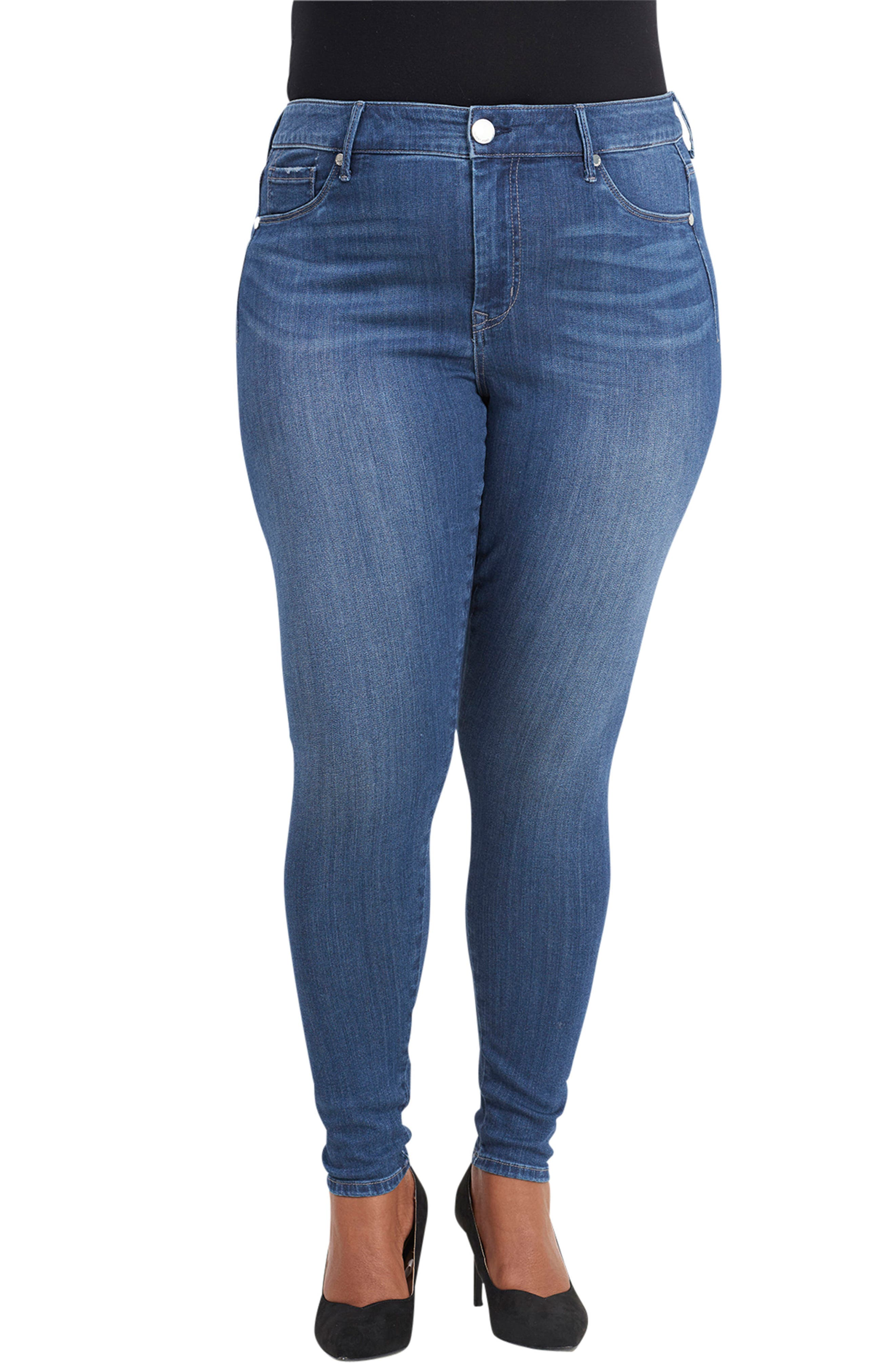 Seamless Denim Leggings,                         Main,                         color, VALENTINE