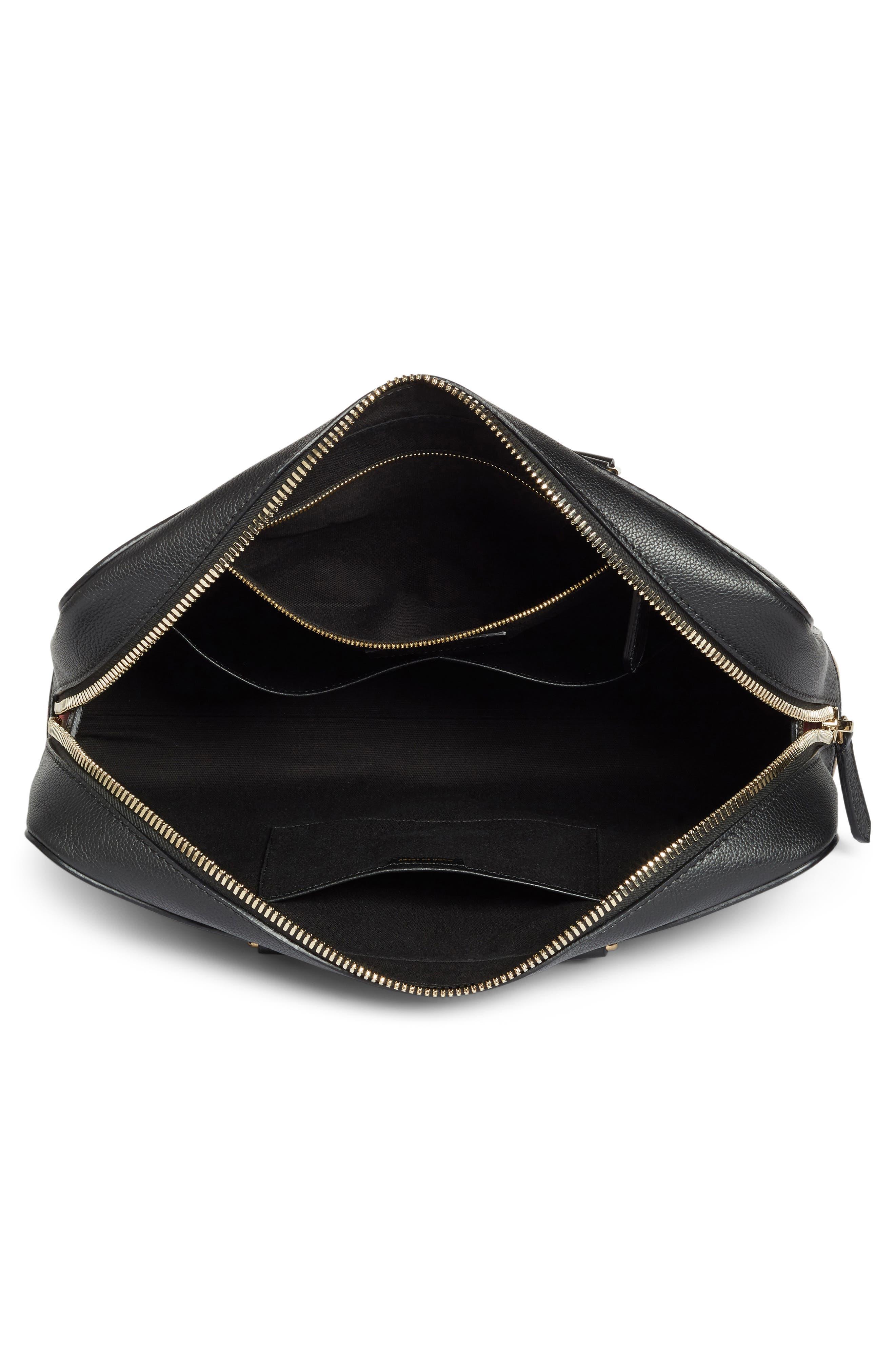 Horton Leather Briefcase,                             Alternate thumbnail 4, color,                             001