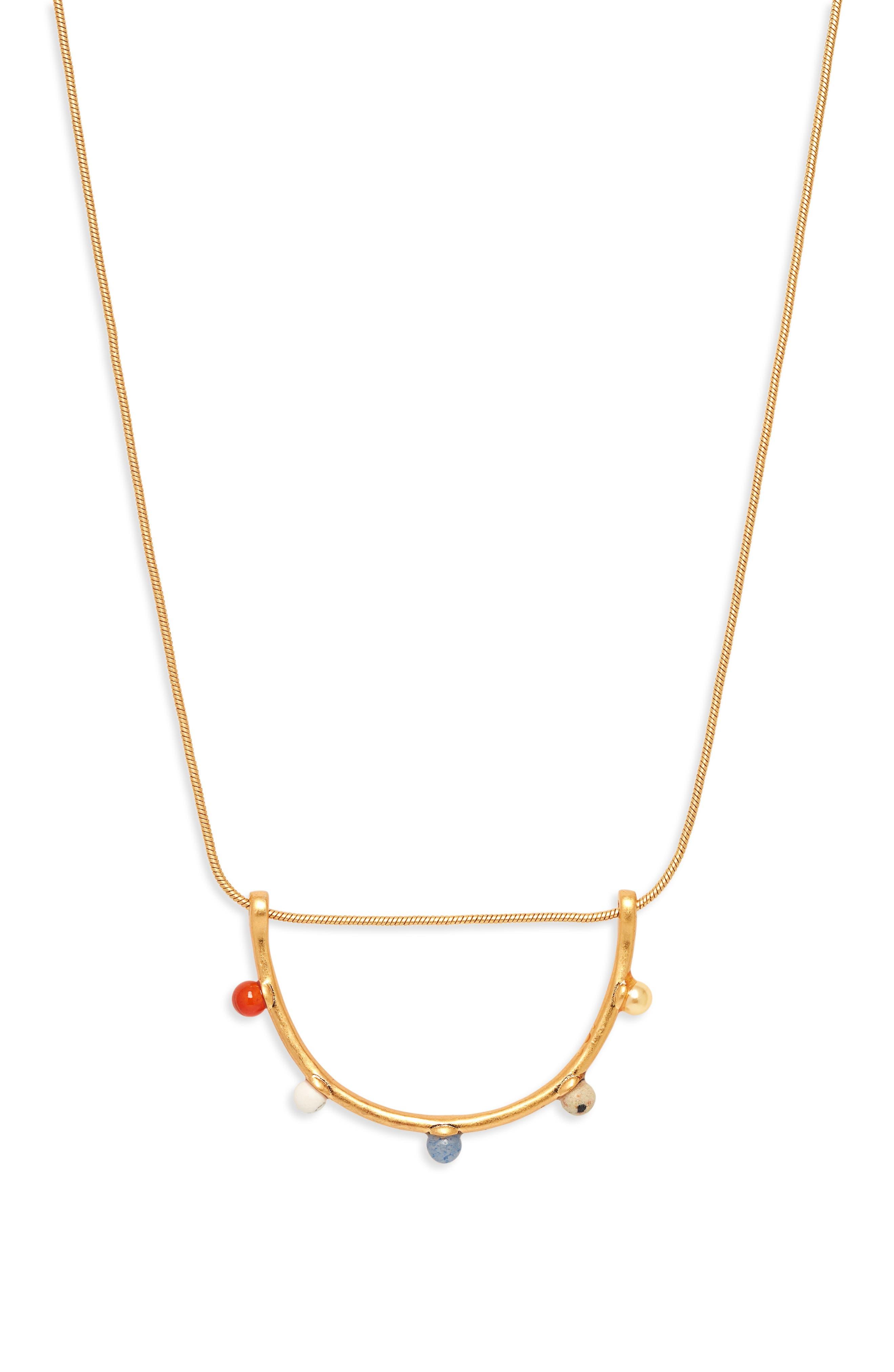 Mixed Bead Necklace,                             Main thumbnail 1, color,                             STONE MIX