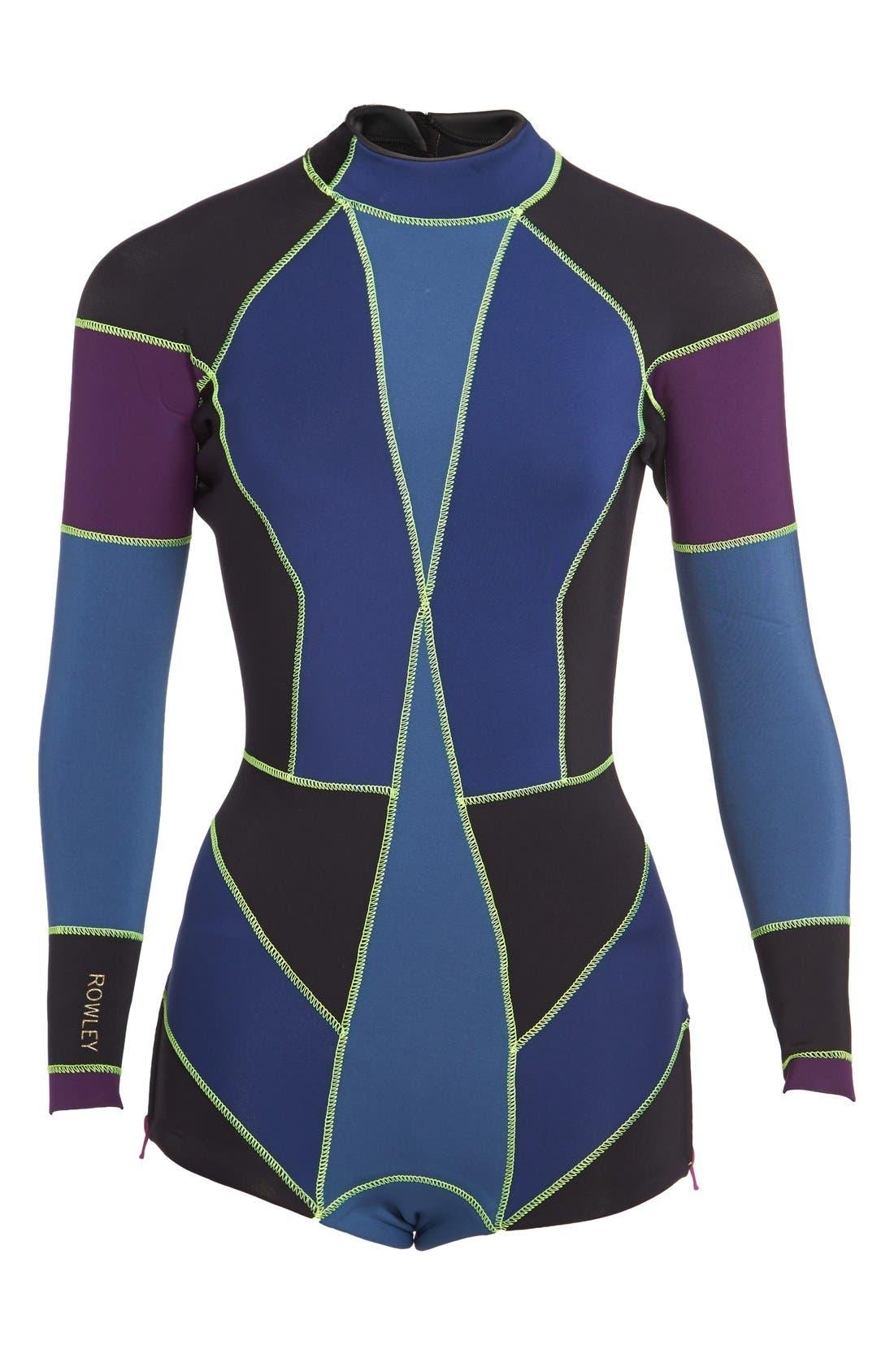CYNTHIA ROWLEY Colorblock Wetsuit, Main, color, 410