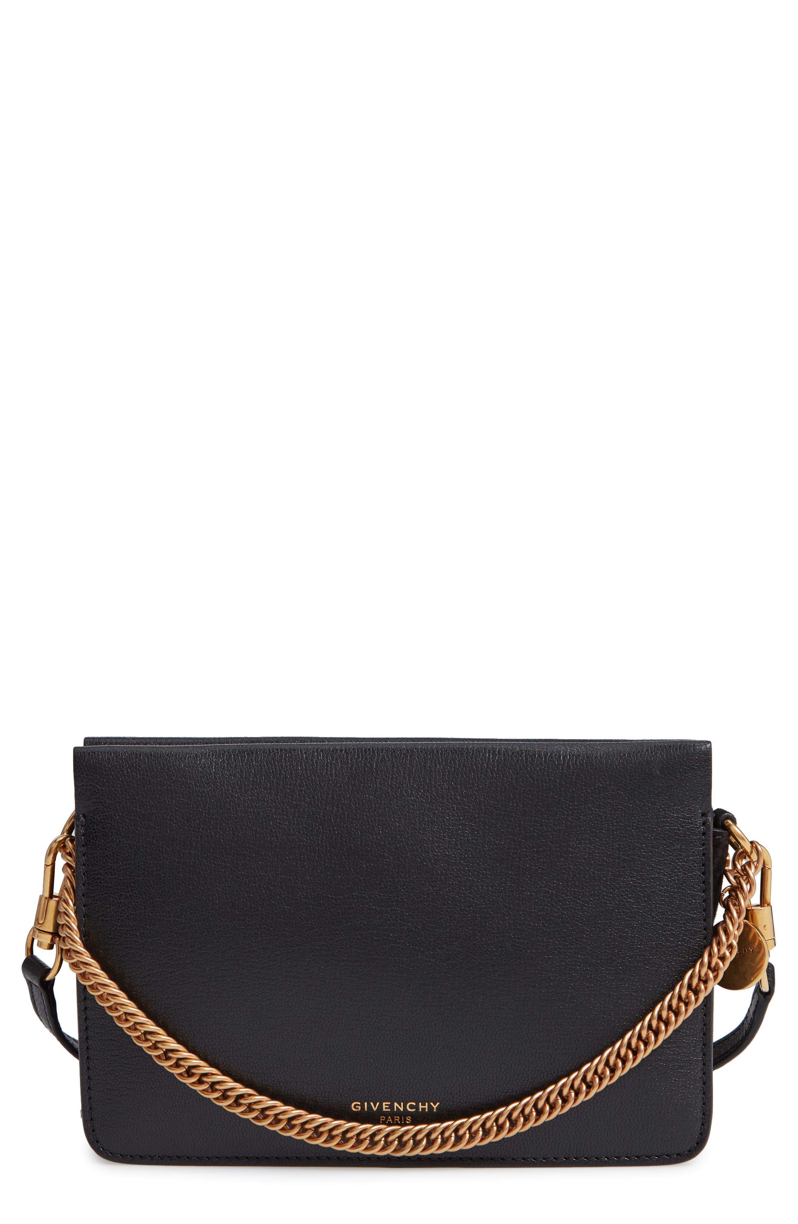 Cross 3 Leather Crossbody Bag,                         Main,                         color, BLACK