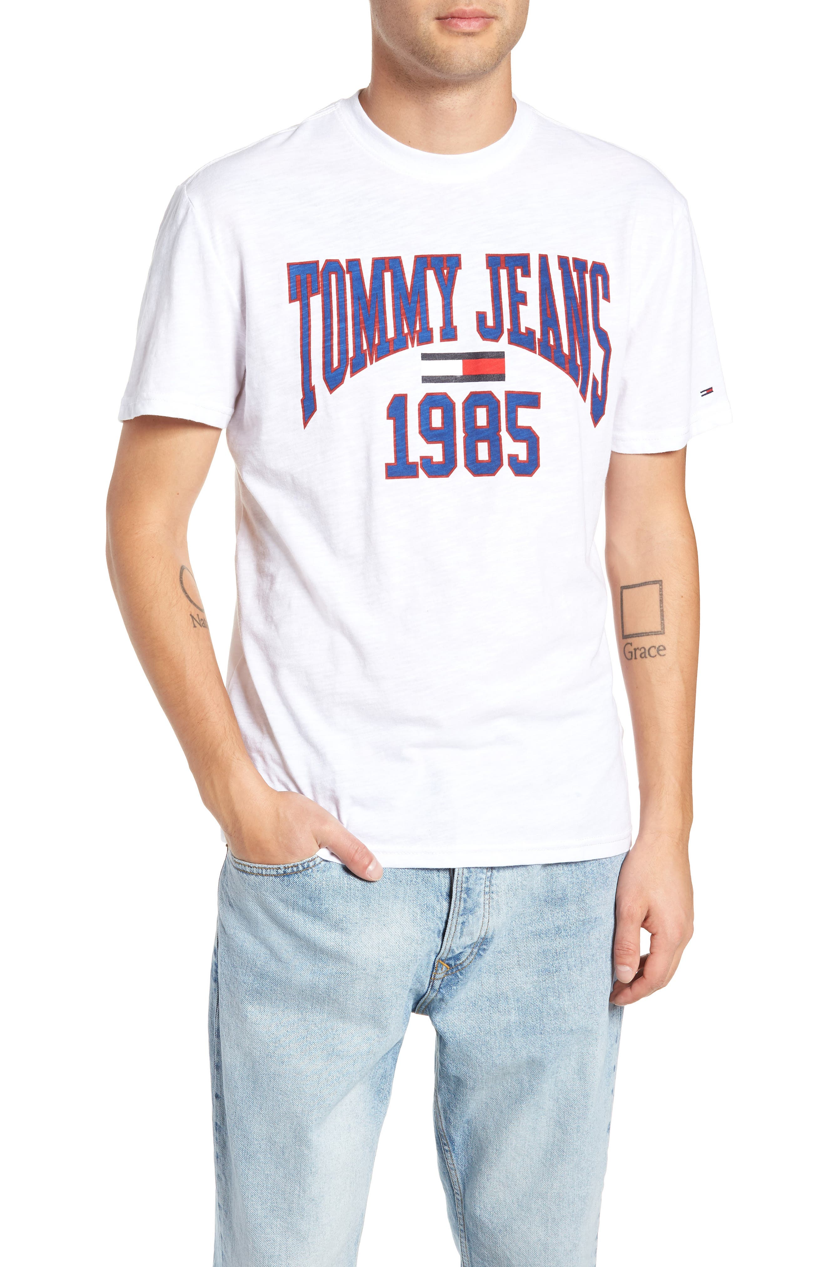 Tommy Jeans Collegiate Graphic T-Shirt, White