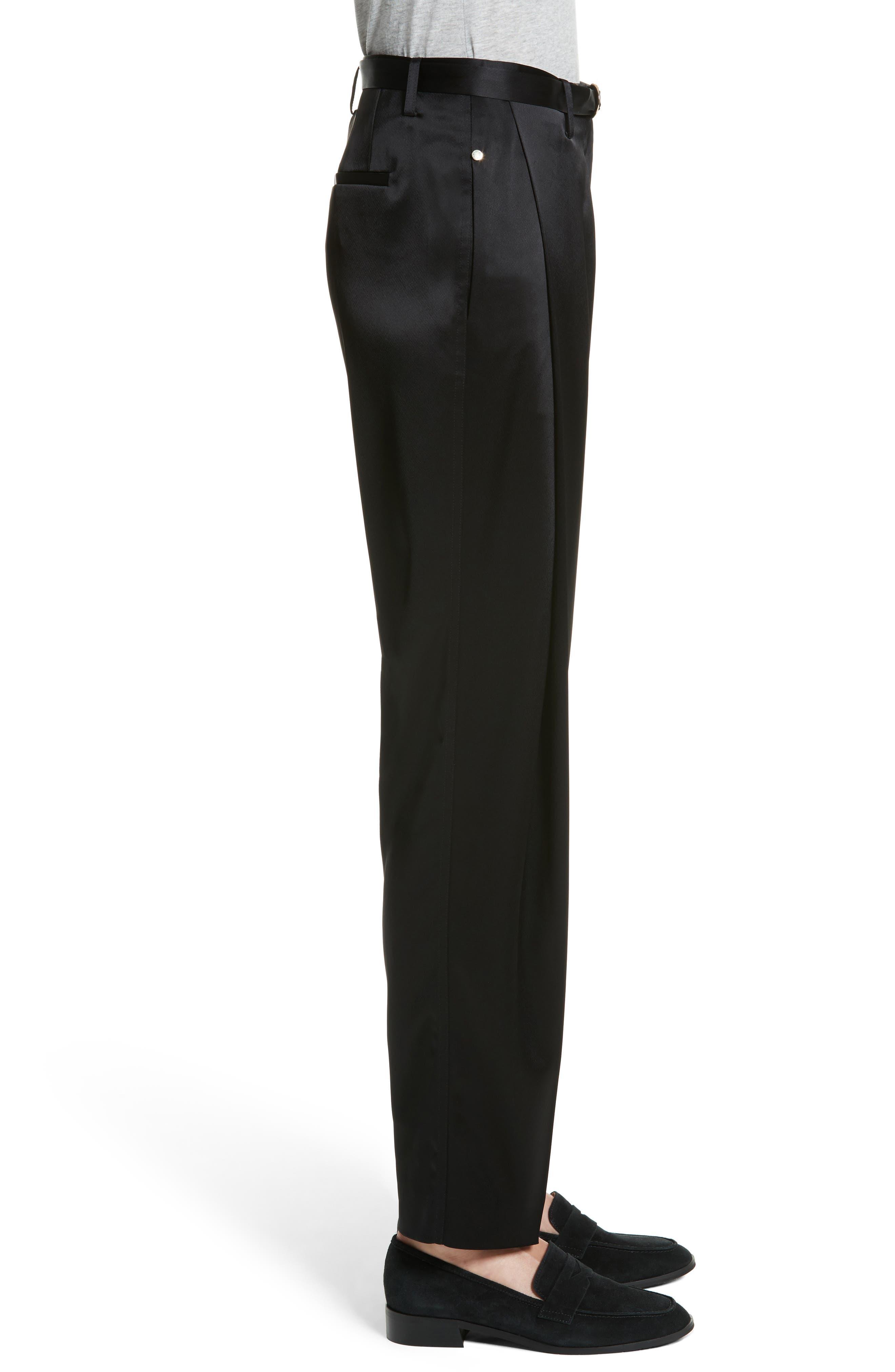 Nassau Reverie Satin Cloth Pants,                             Alternate thumbnail 3, color,                             001