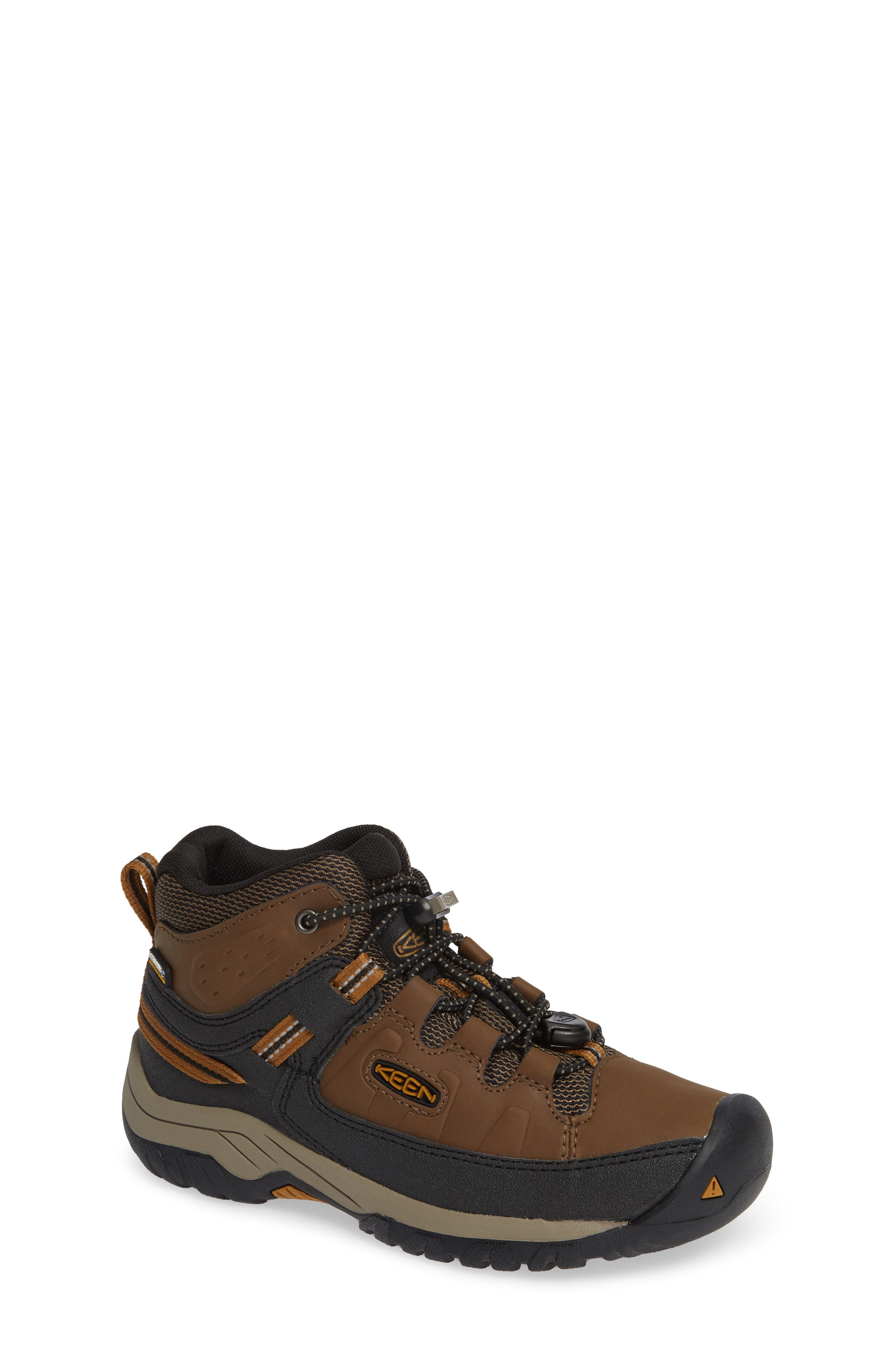 Targhee Mid Waterproof Hiking Boot,                             Main thumbnail 1, color,                             DARK EARTH/ GOLDEN BROWN