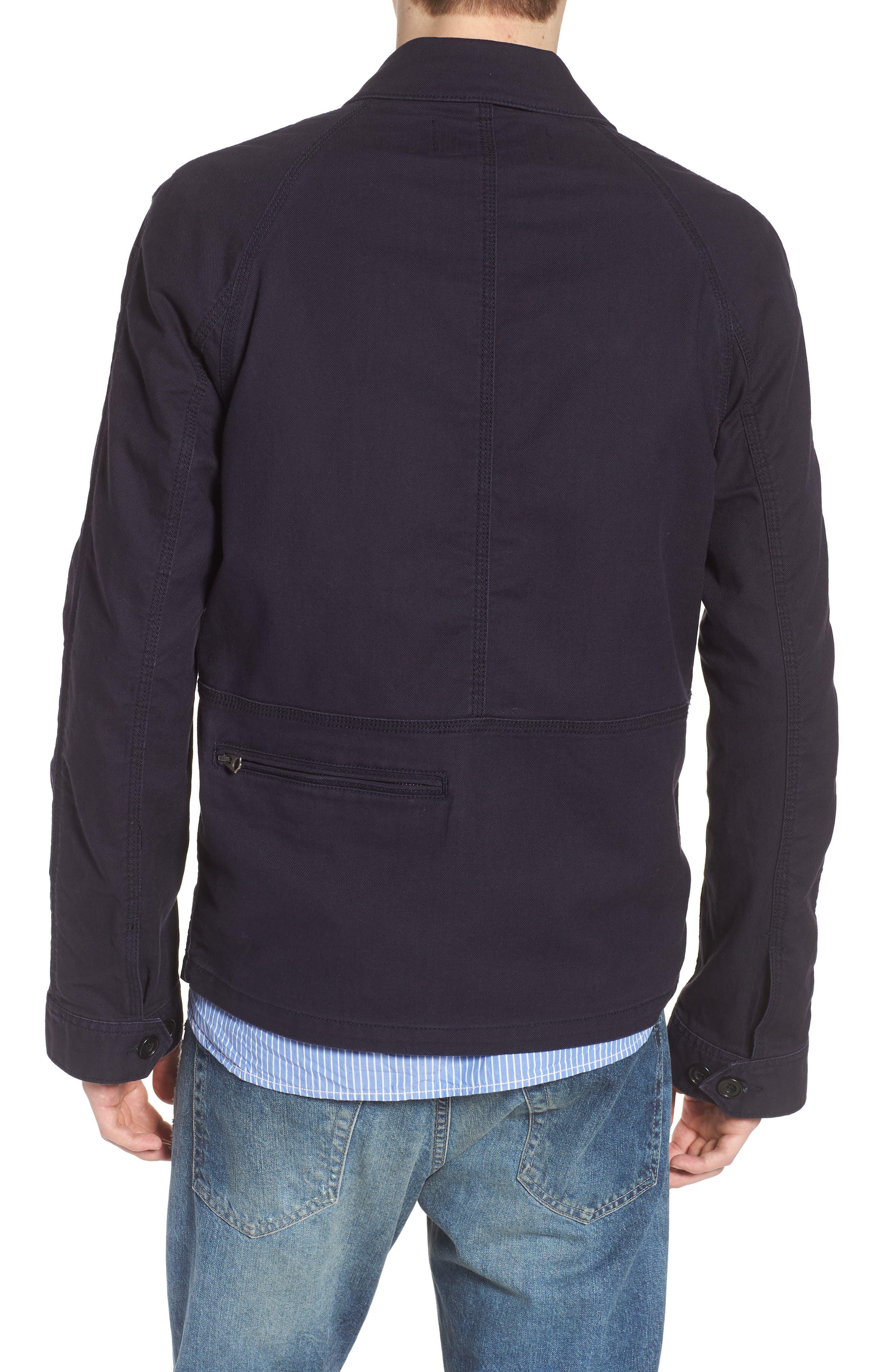 Slim Fit Slub Twill Cotton & Linen Jacket,                             Alternate thumbnail 2, color,                             001