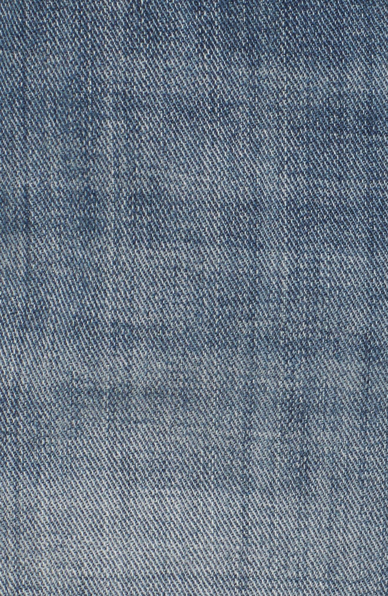 Patchwork Denim Miniskirt,                             Alternate thumbnail 5, color,                             401