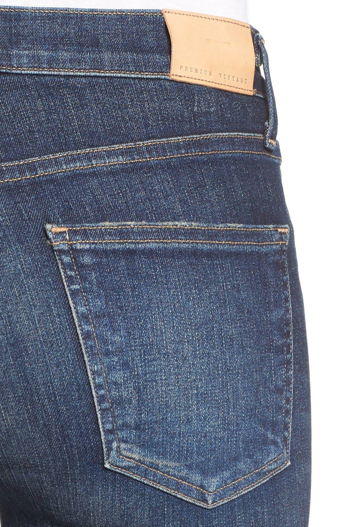 Rocket High Waist Crop Skinny Jeans,                             Alternate thumbnail 5, color,                             410