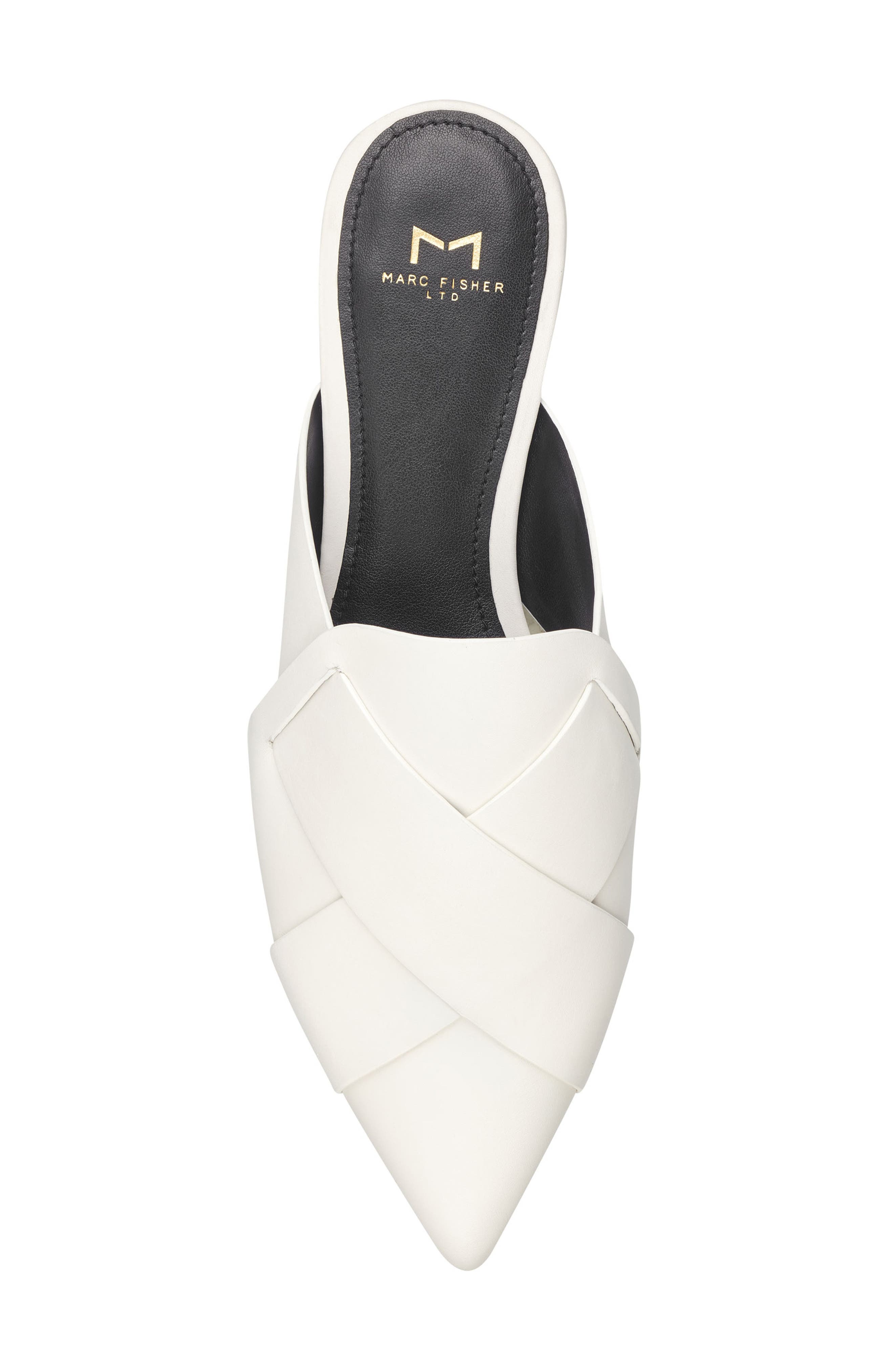 Sono Pointy Toe Mule,                             Alternate thumbnail 5, color,                             CHIC CREAM LEATHER
