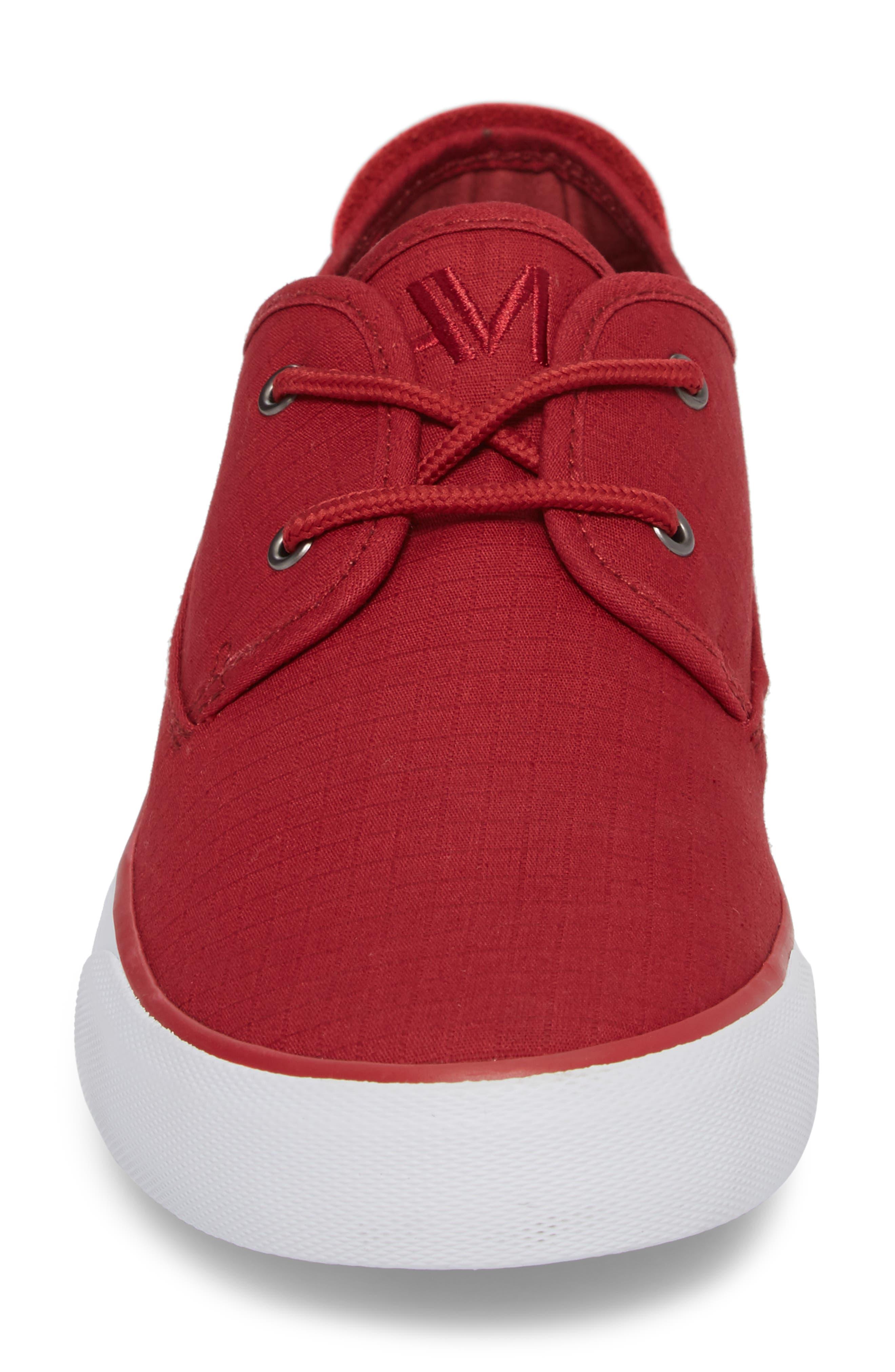 Morris Sneaker,                             Alternate thumbnail 4, color,                             RED/ WHITE