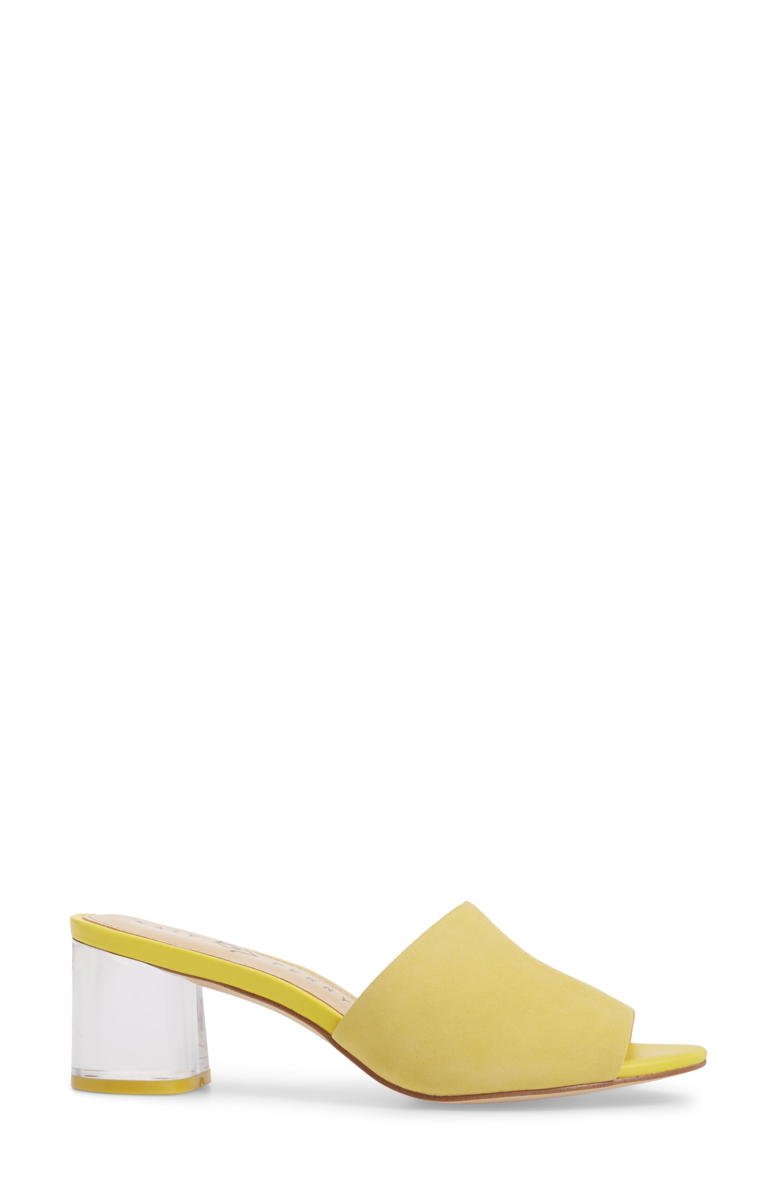 The Kaitlynn Slide Sandal,                             Alternate thumbnail 3, color,                             YELLOW SUEDE