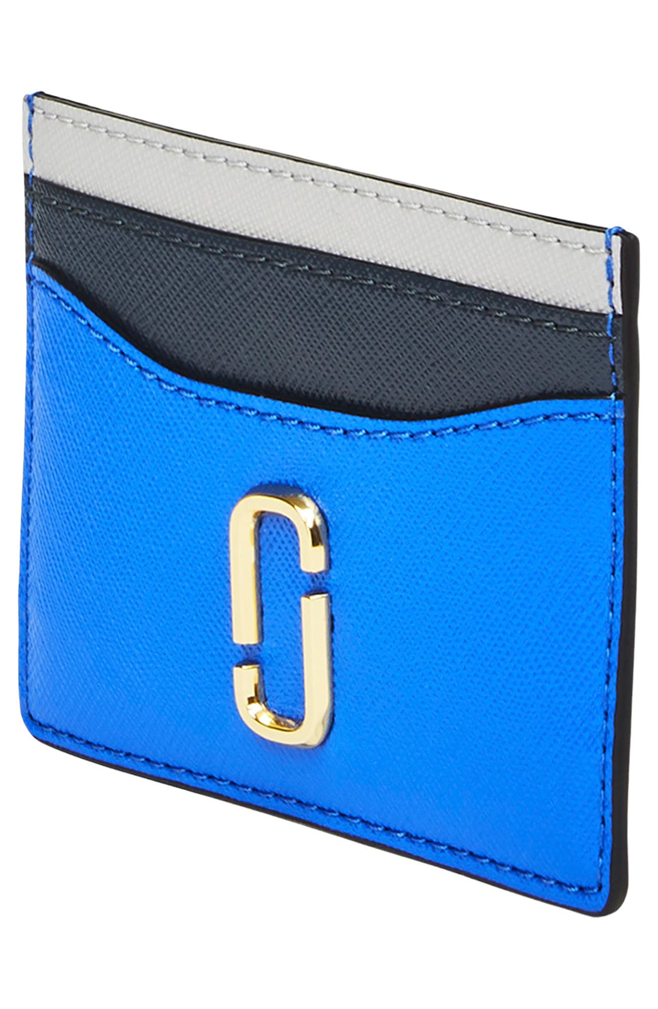 Snapshot Leather Card Case,                             Alternate thumbnail 3, color,                             400
