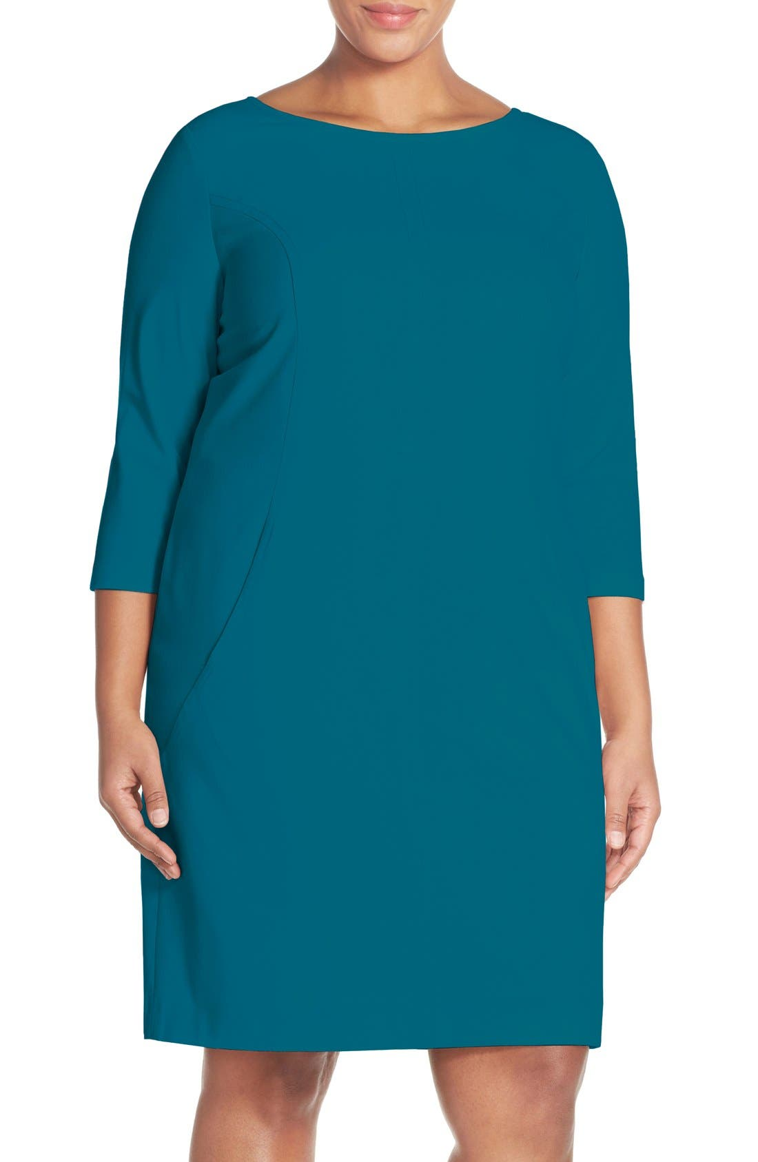 by Arthur S. Levine Seamed A-Line Dress,                             Main thumbnail 7, color,