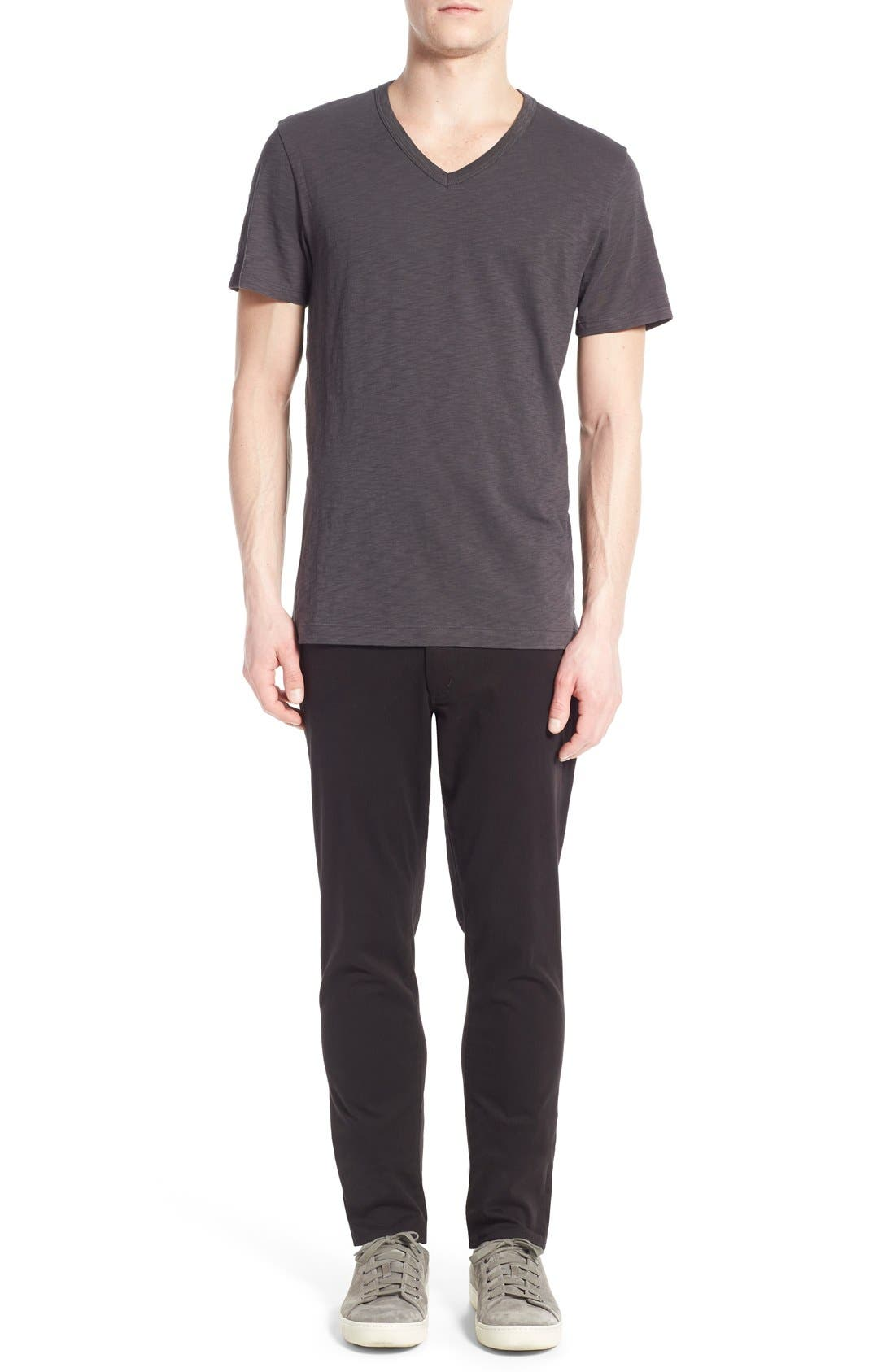 Slub V-Neck T-Shirt,                             Alternate thumbnail 7, color,                             SPHERE