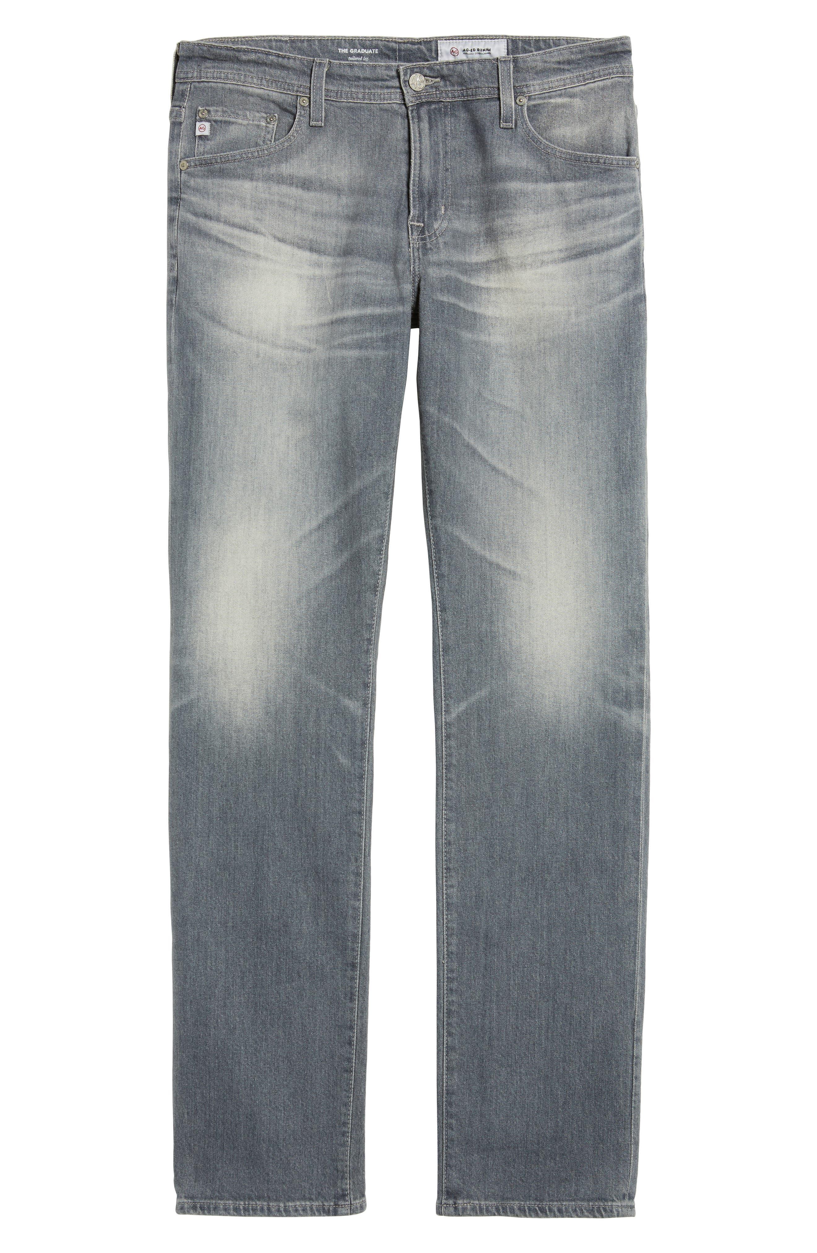 Graduate Slim Straight Fit Jeans,                             Alternate thumbnail 6, color,                             020
