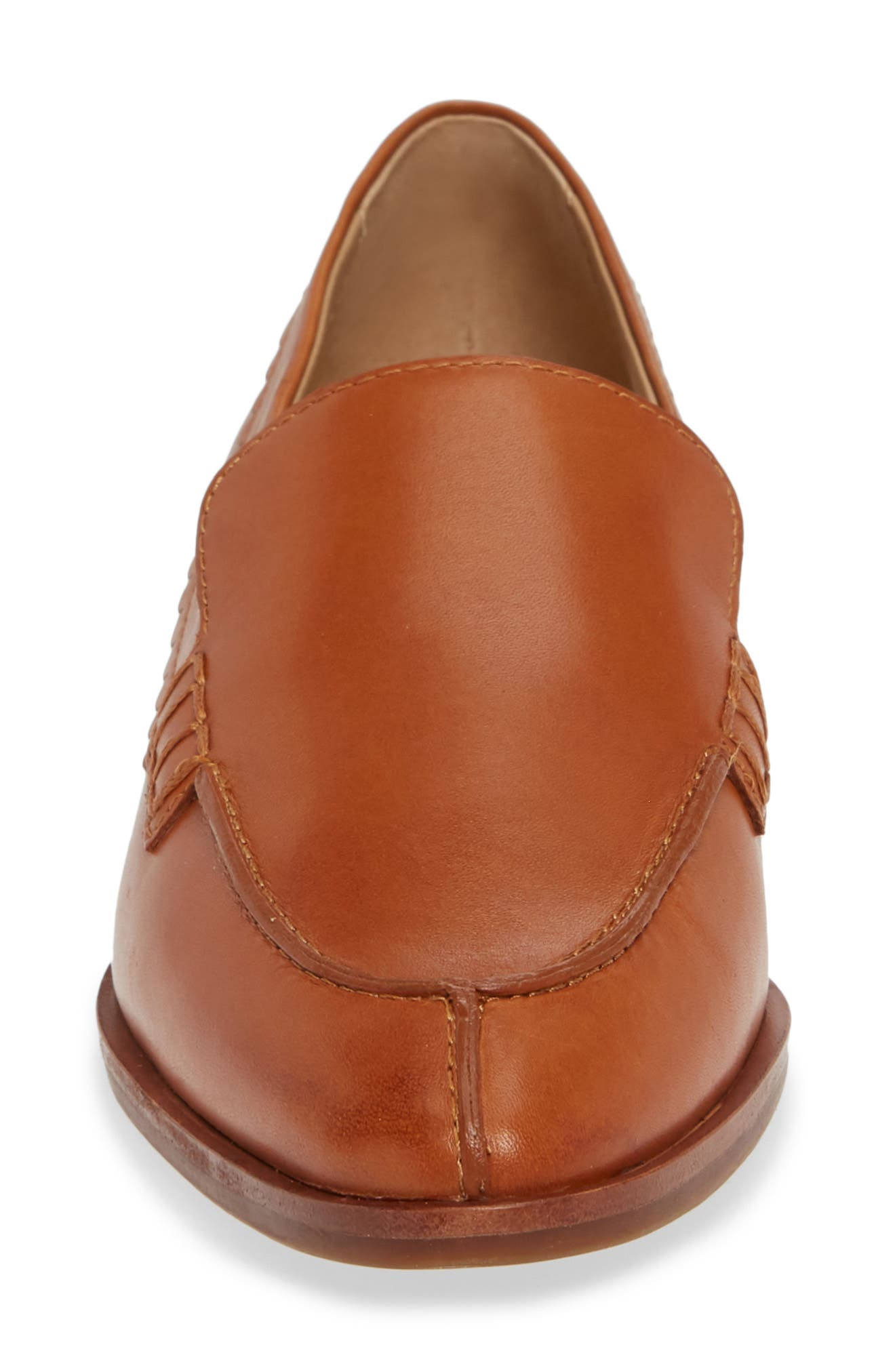 Bowery Loafer,                             Alternate thumbnail 4, color,                             COCONUT VACHETTA LEATHER
