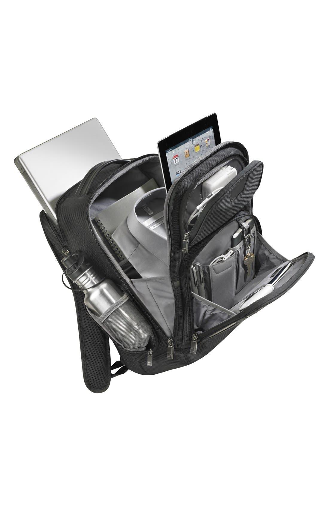 Medium Ballistic Nylon Backpack,                             Alternate thumbnail 6, color,