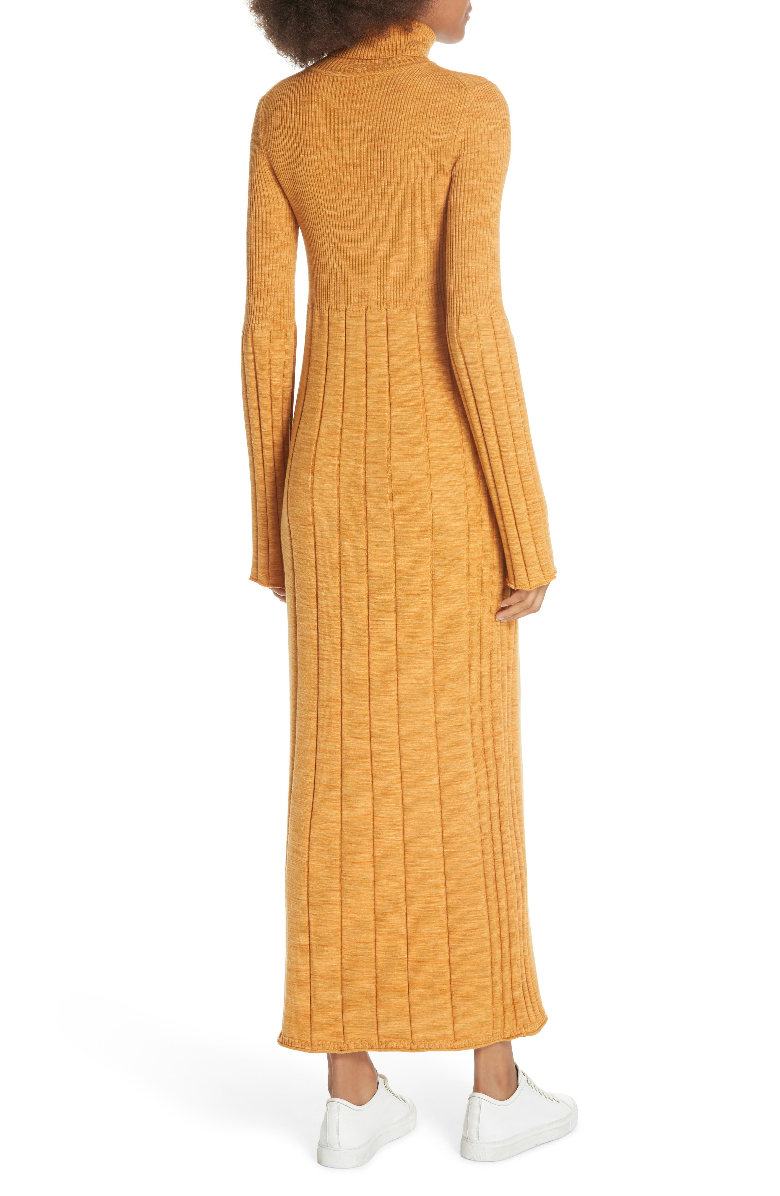 Clementine Ribbed Space Dye Wool Dress,                             Alternate thumbnail 2, color,                             700