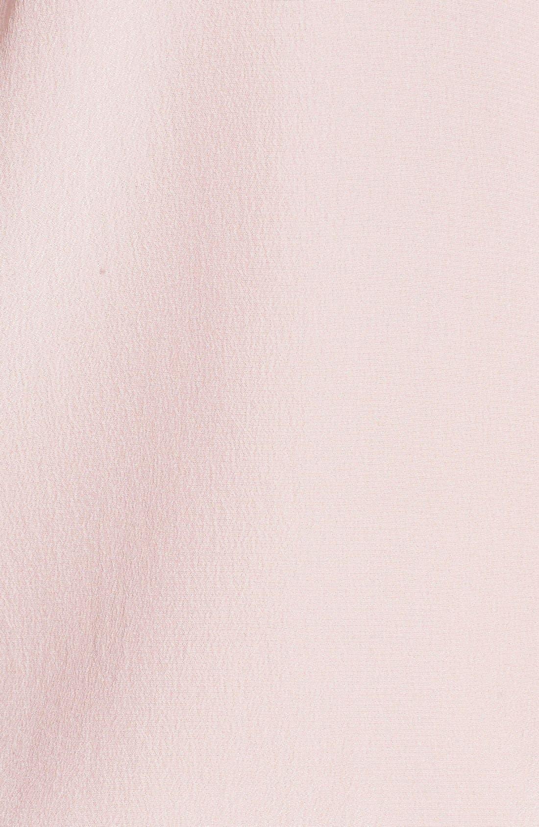 'Slim Signature' Sleeveless Silk Shirt,                             Alternate thumbnail 91, color,
